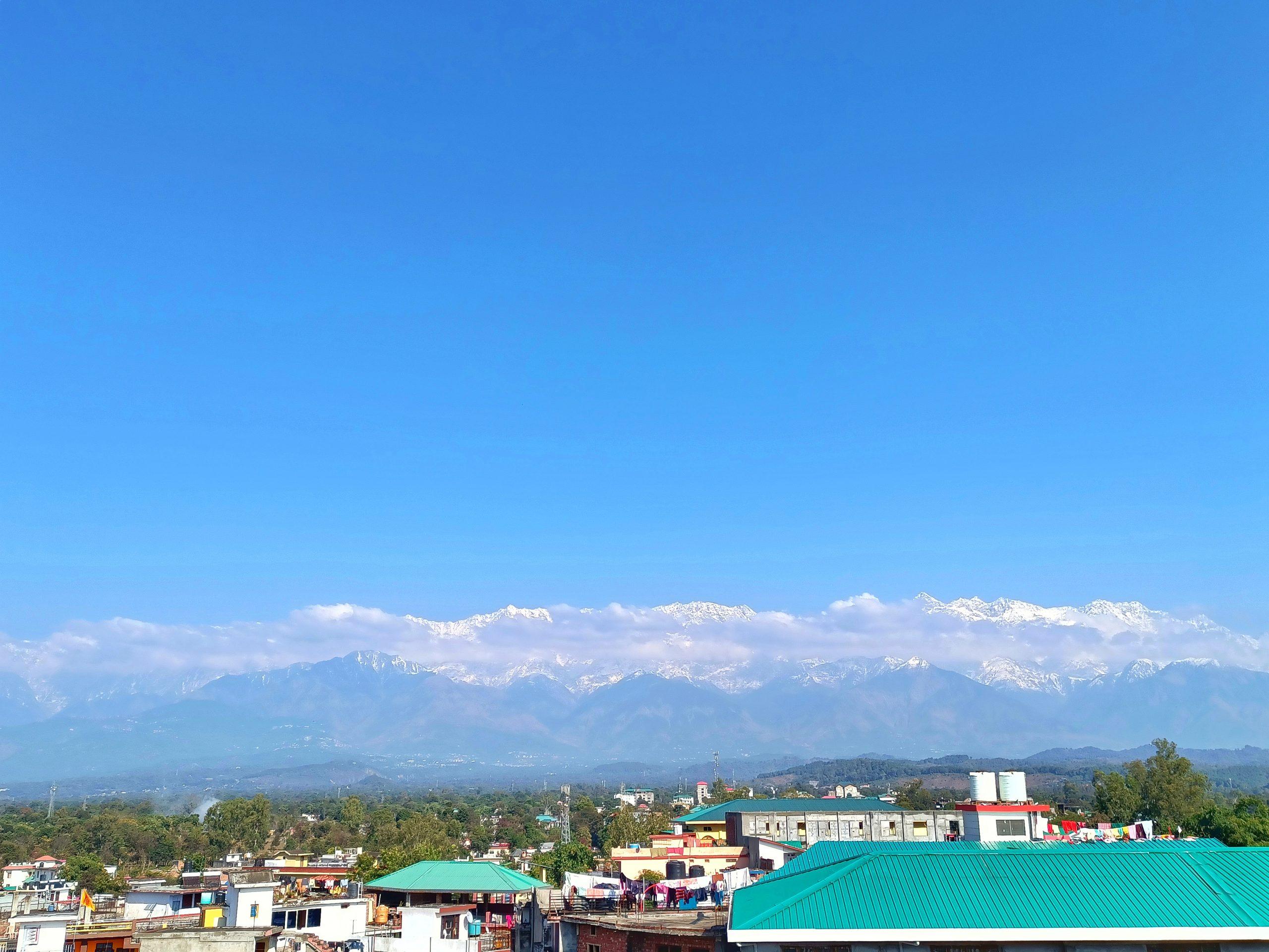Blue Sky Cityscape