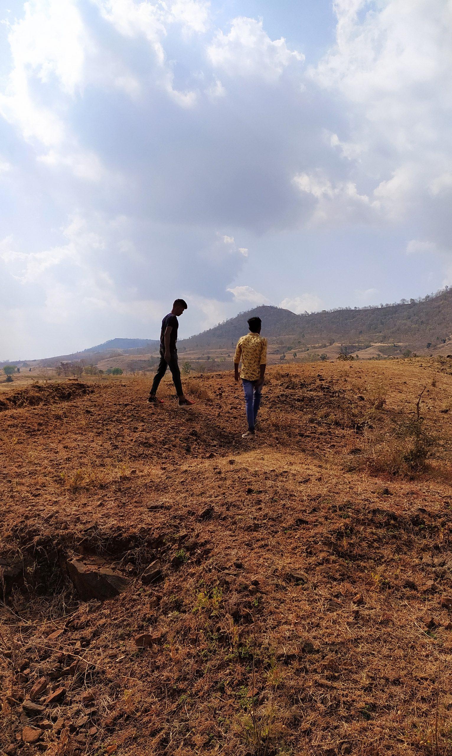 Boys at mountain top