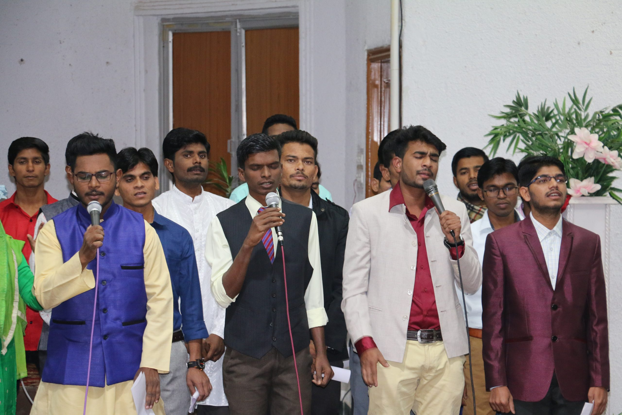 Boys giving a performance