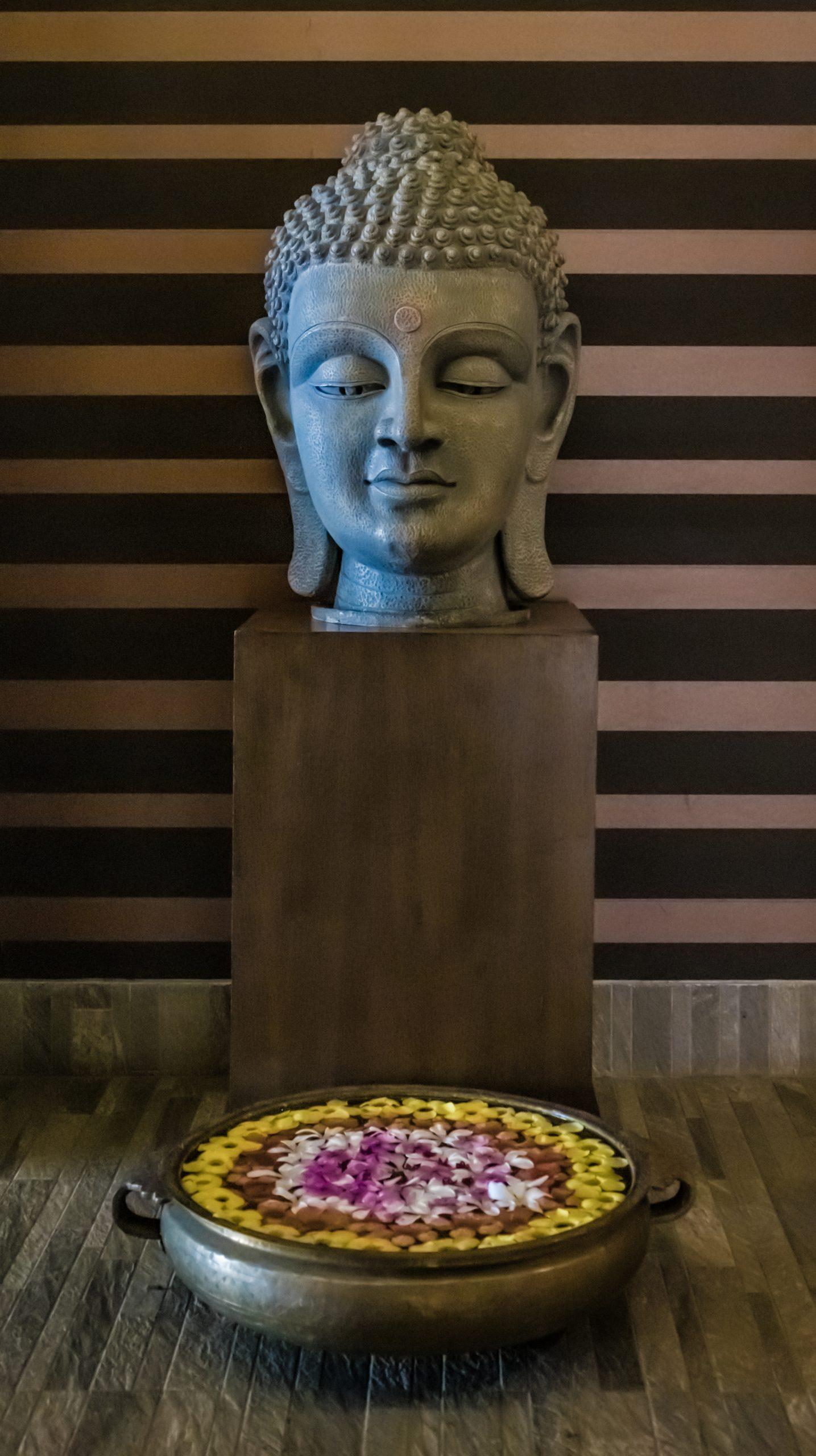 Buddha statue in a spa
