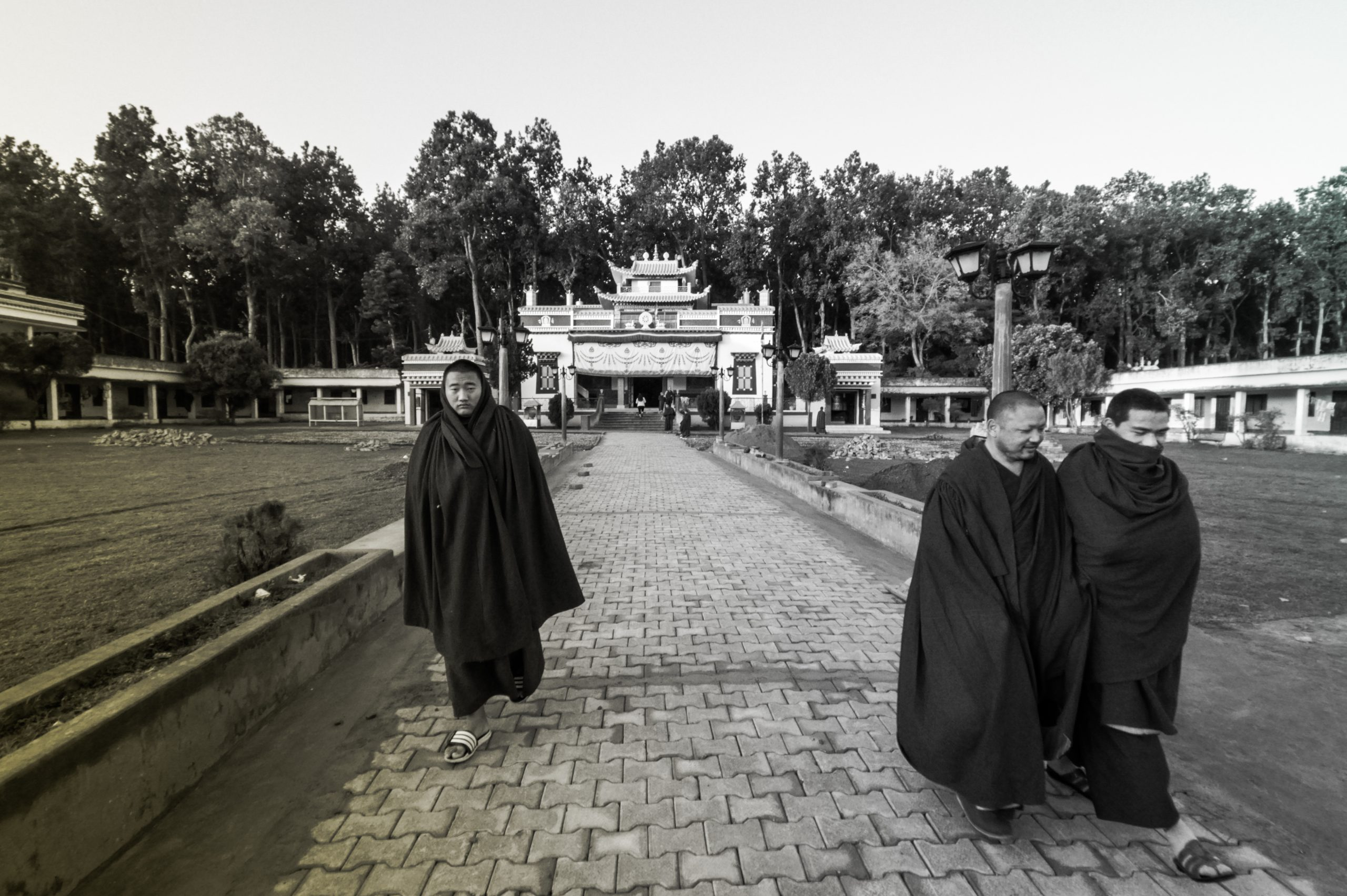 Buddhist Priests in a temple