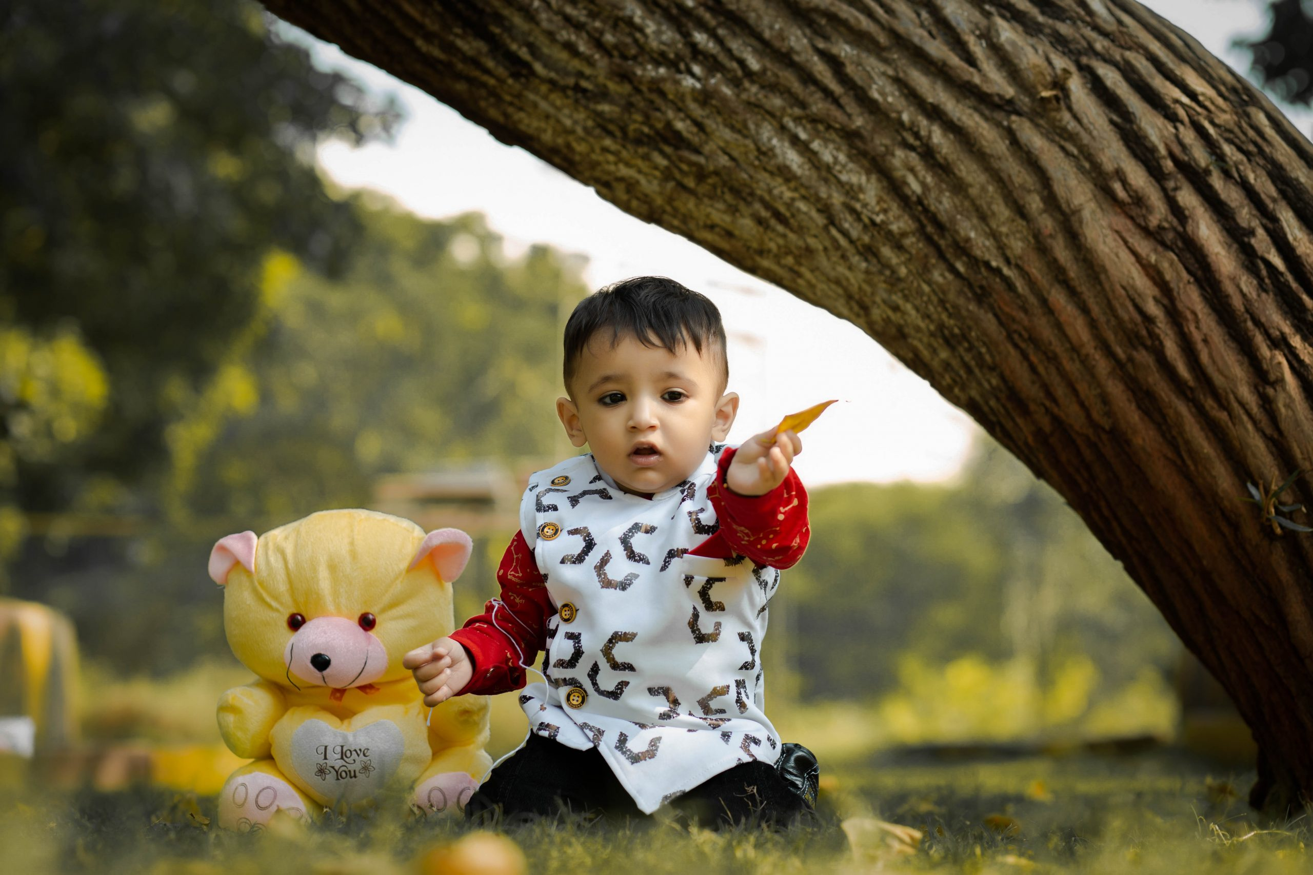 Kid with toy