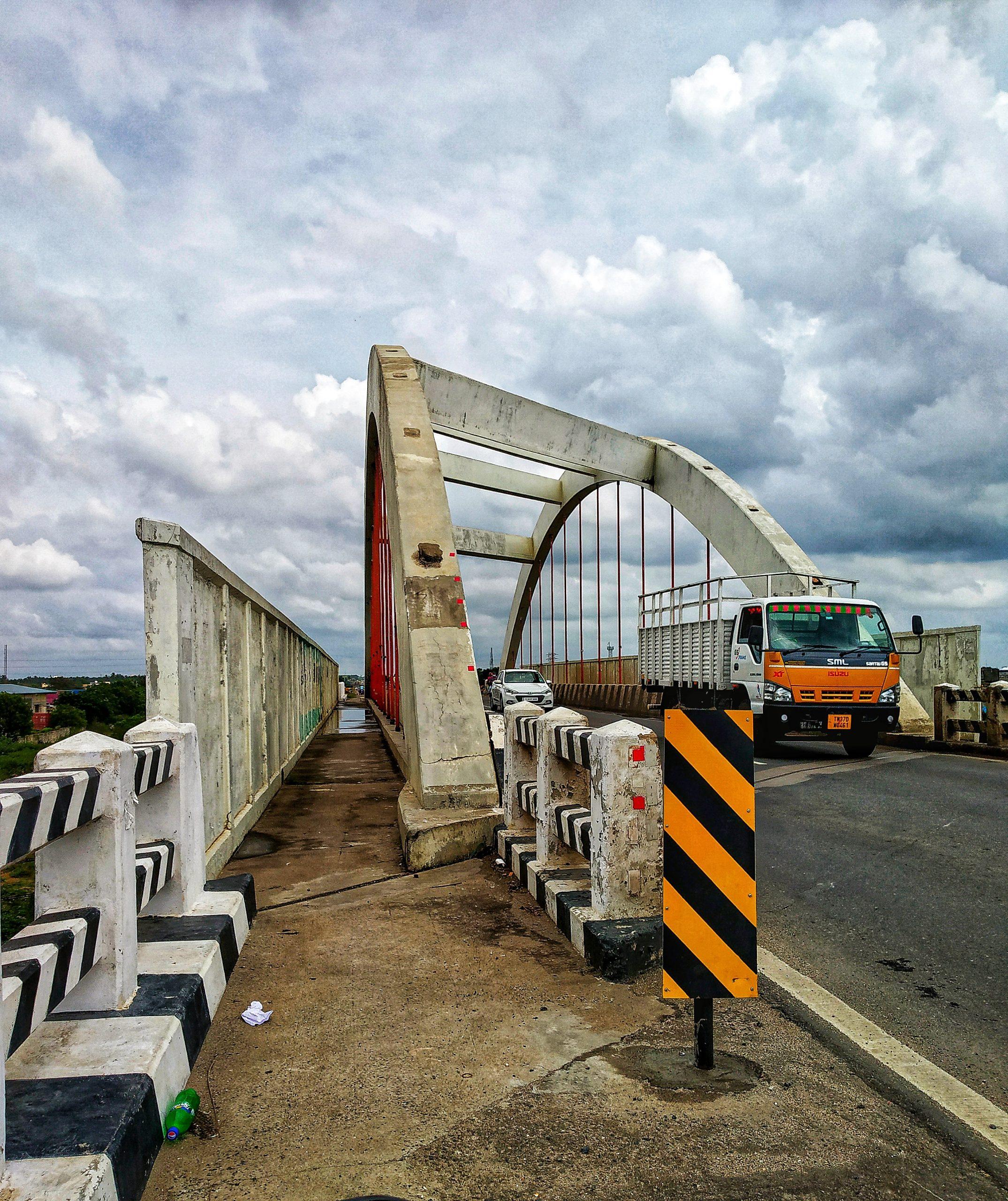 Cable arch bridge
