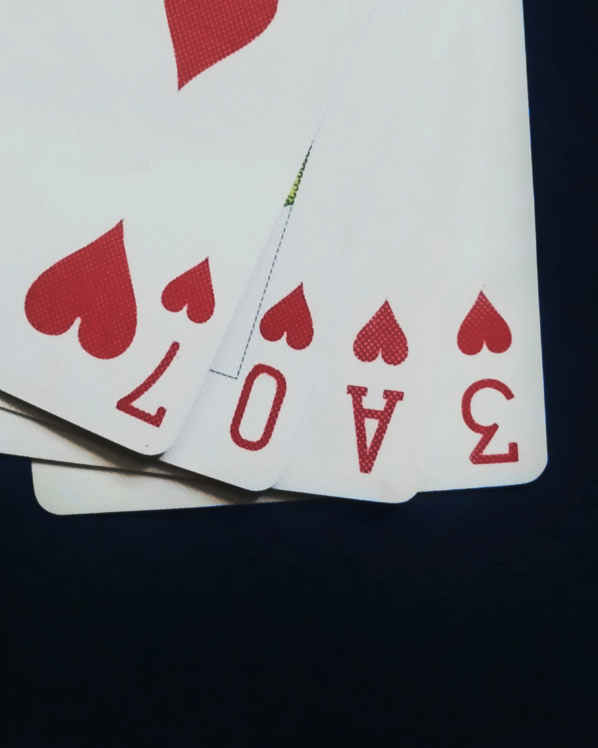 Cards of hearts
