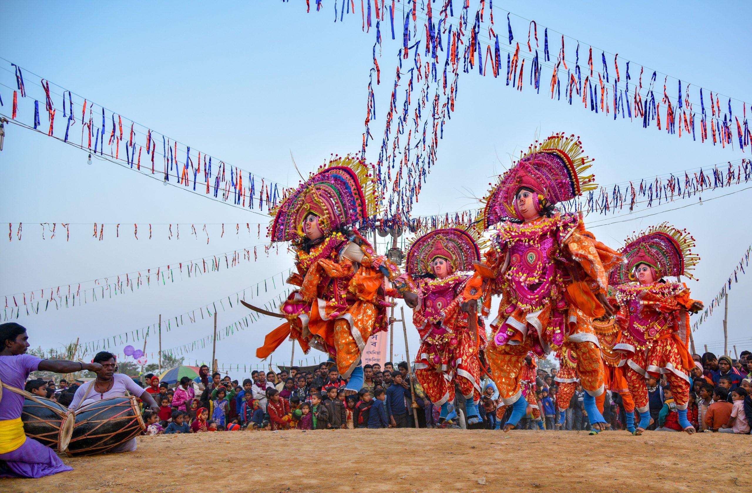 Chhau dance performers