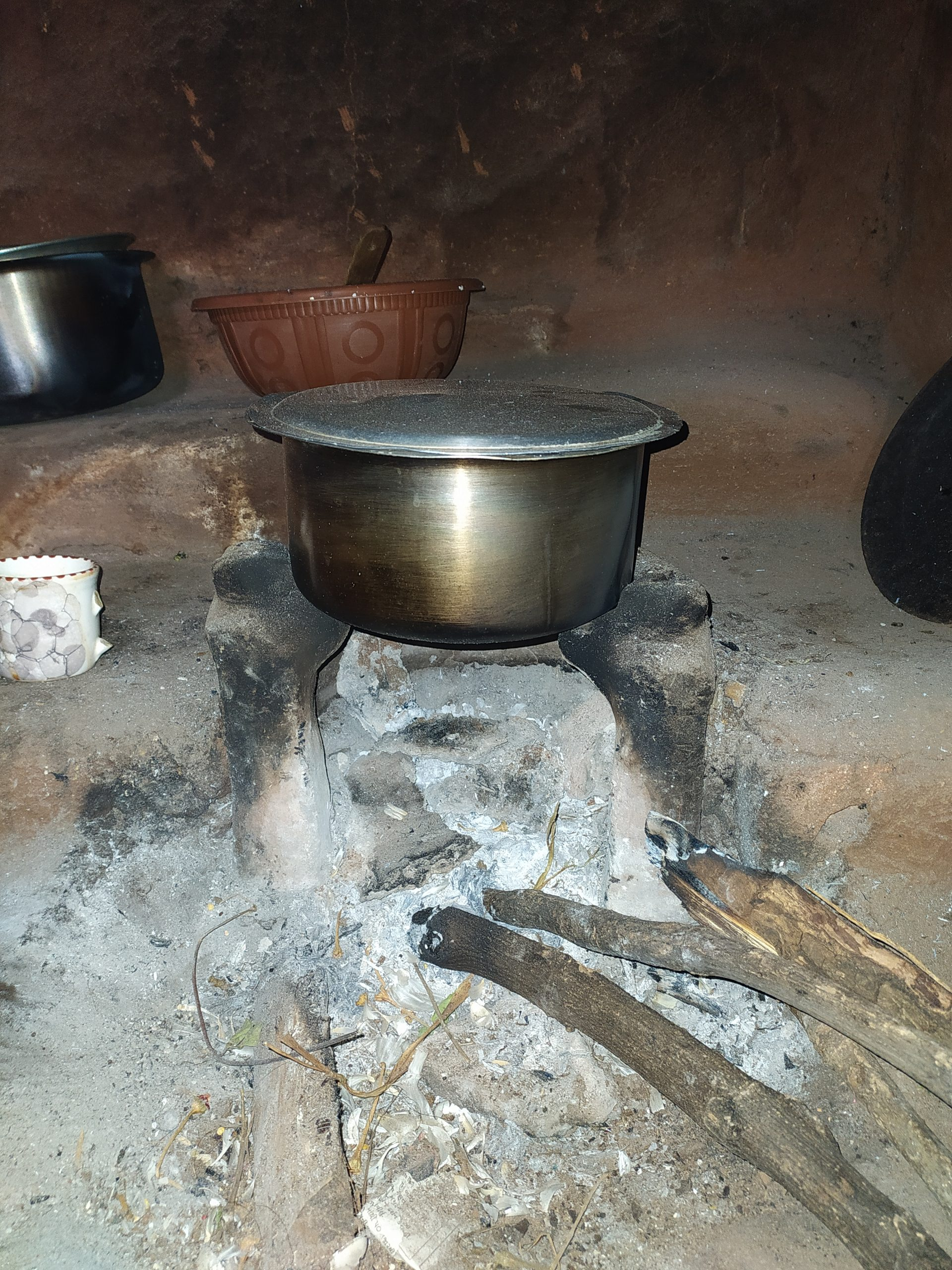 A clay stove