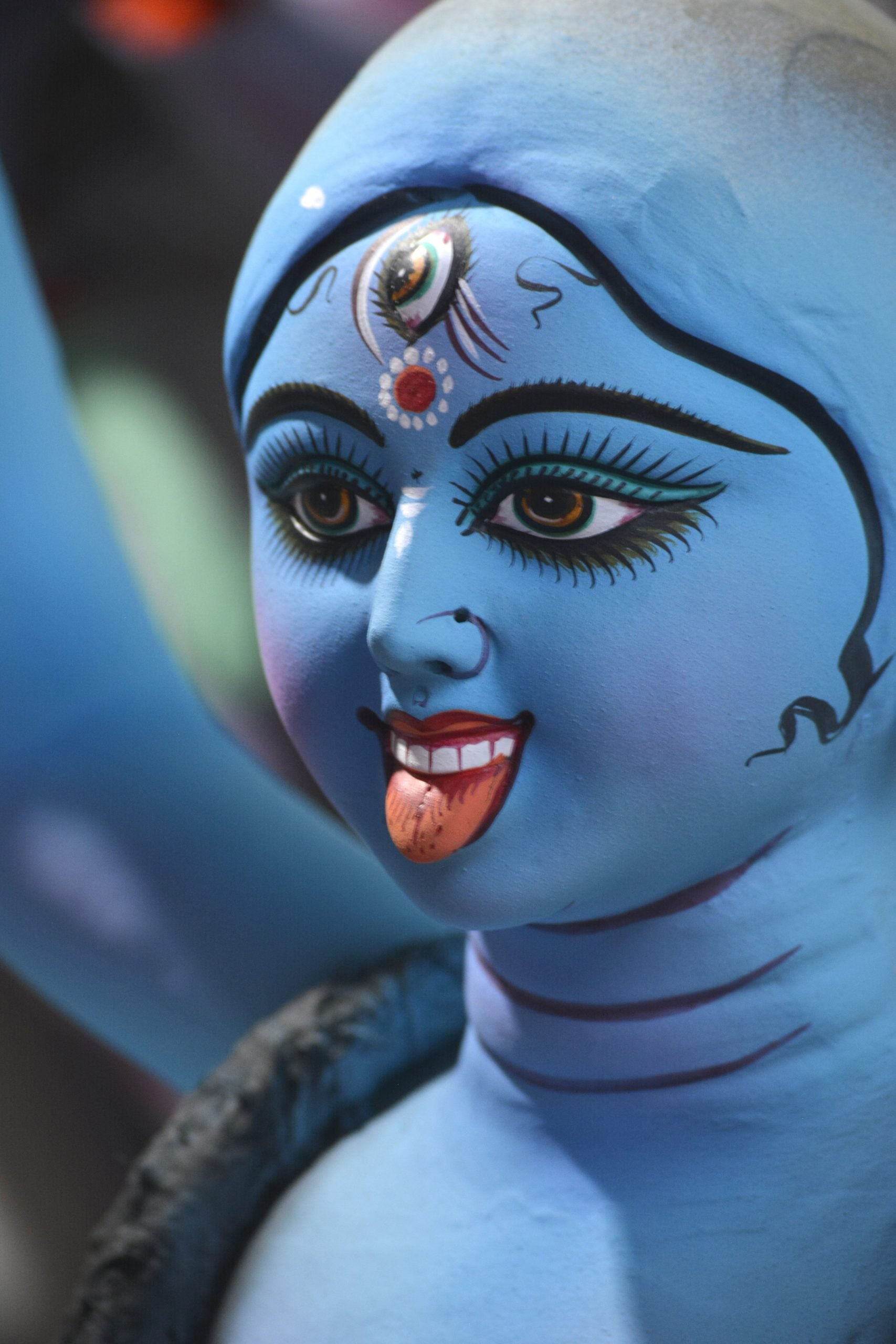 Clay idol of Hindu goddess
