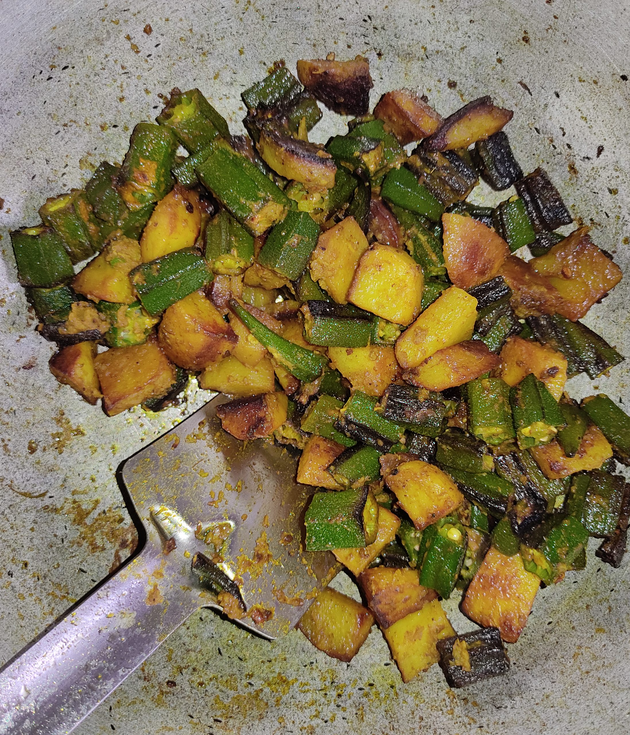 Cooking vegetable at home