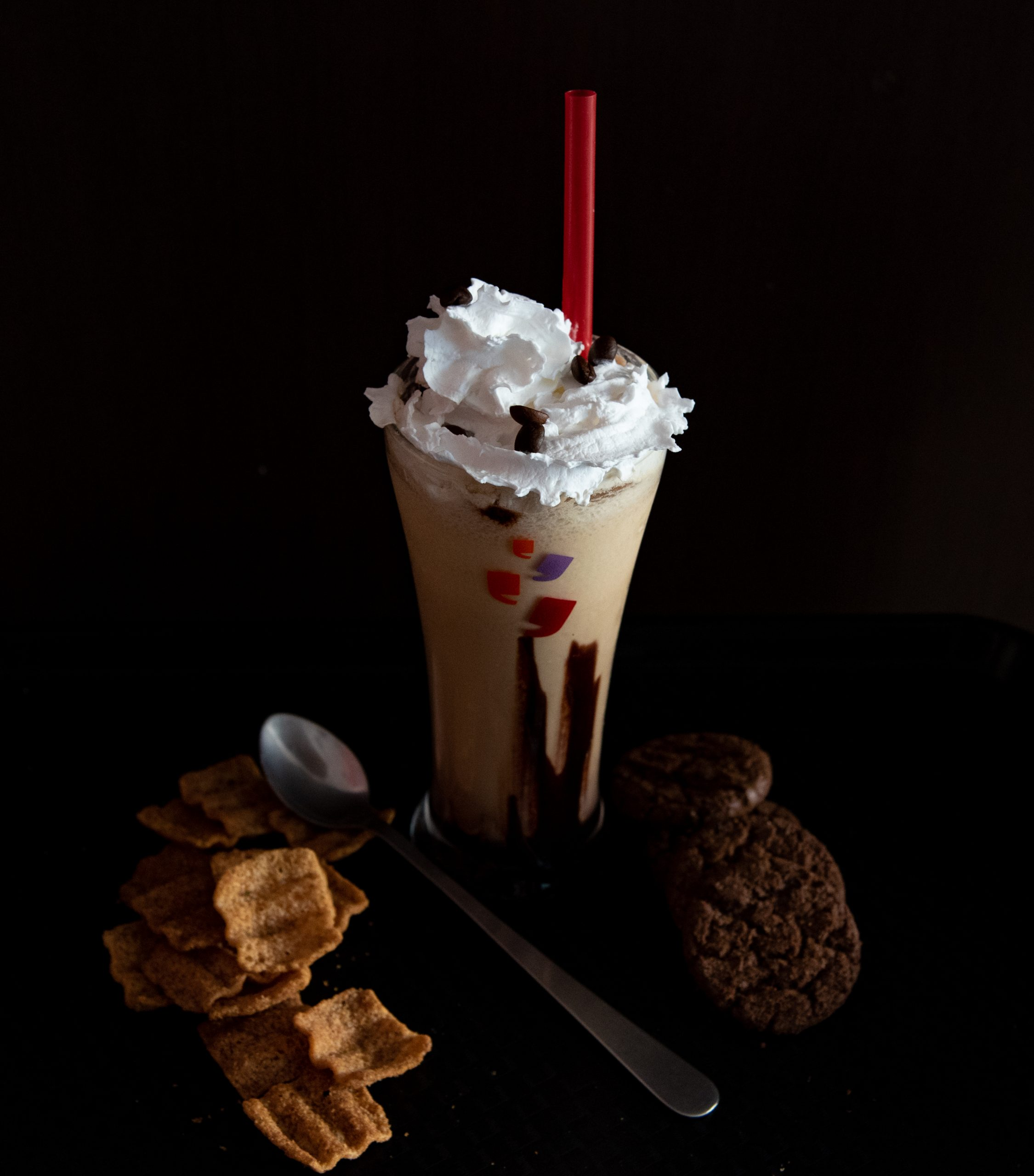 cold coffee and cookies