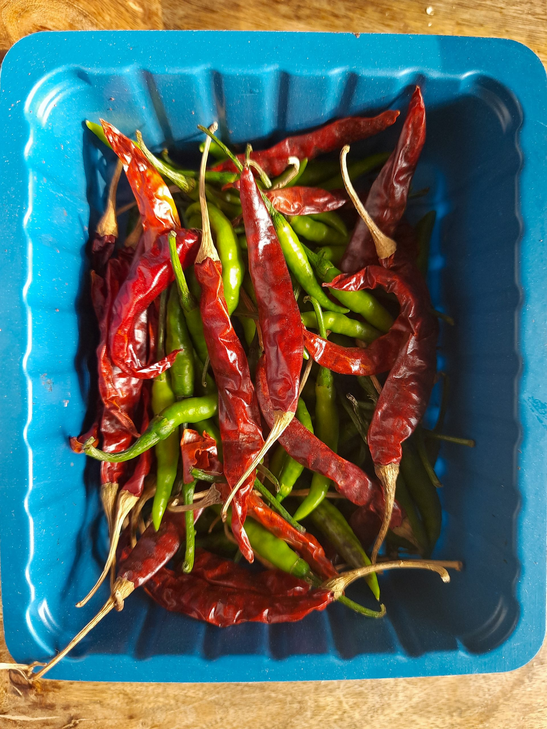 chillies in a box