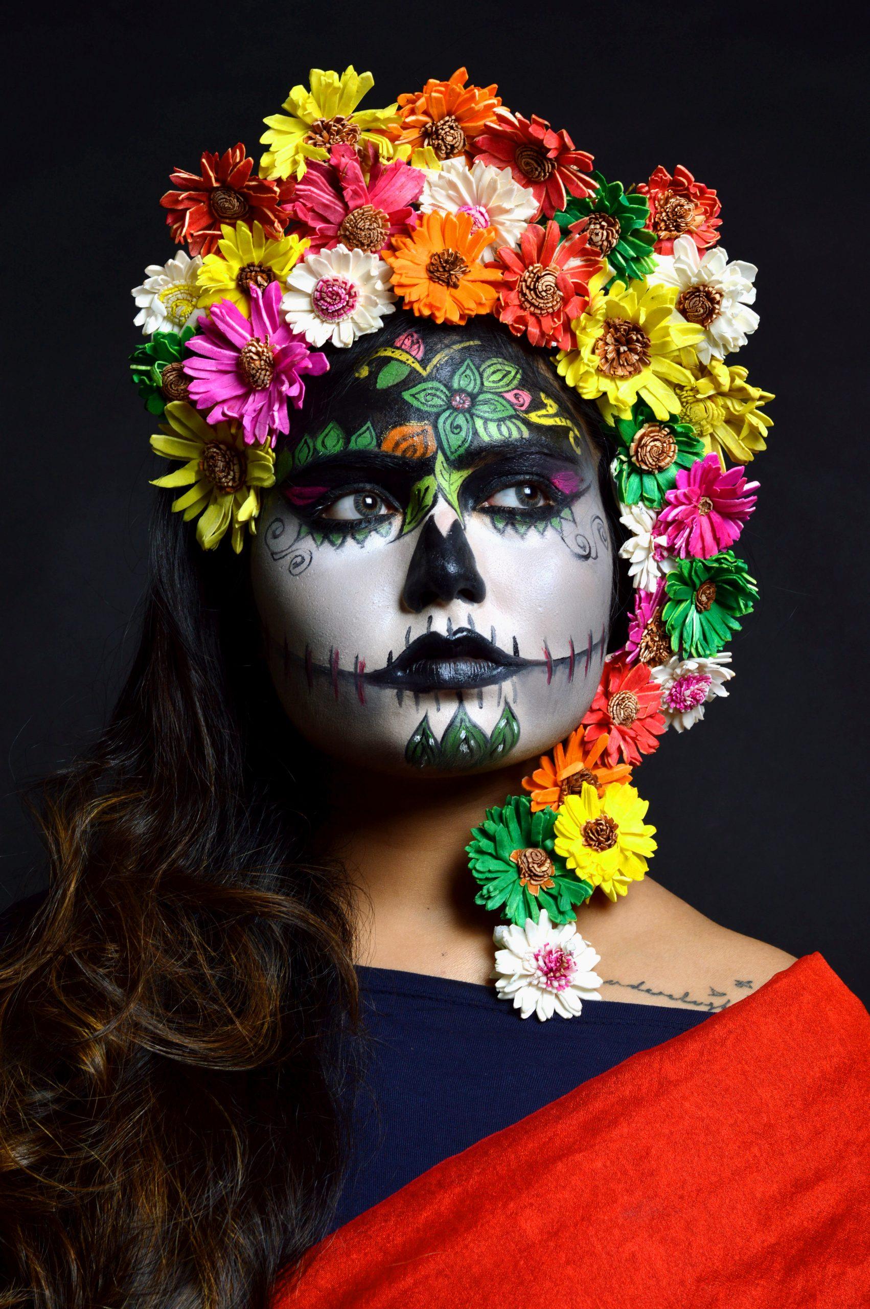 A girl after floral makeover