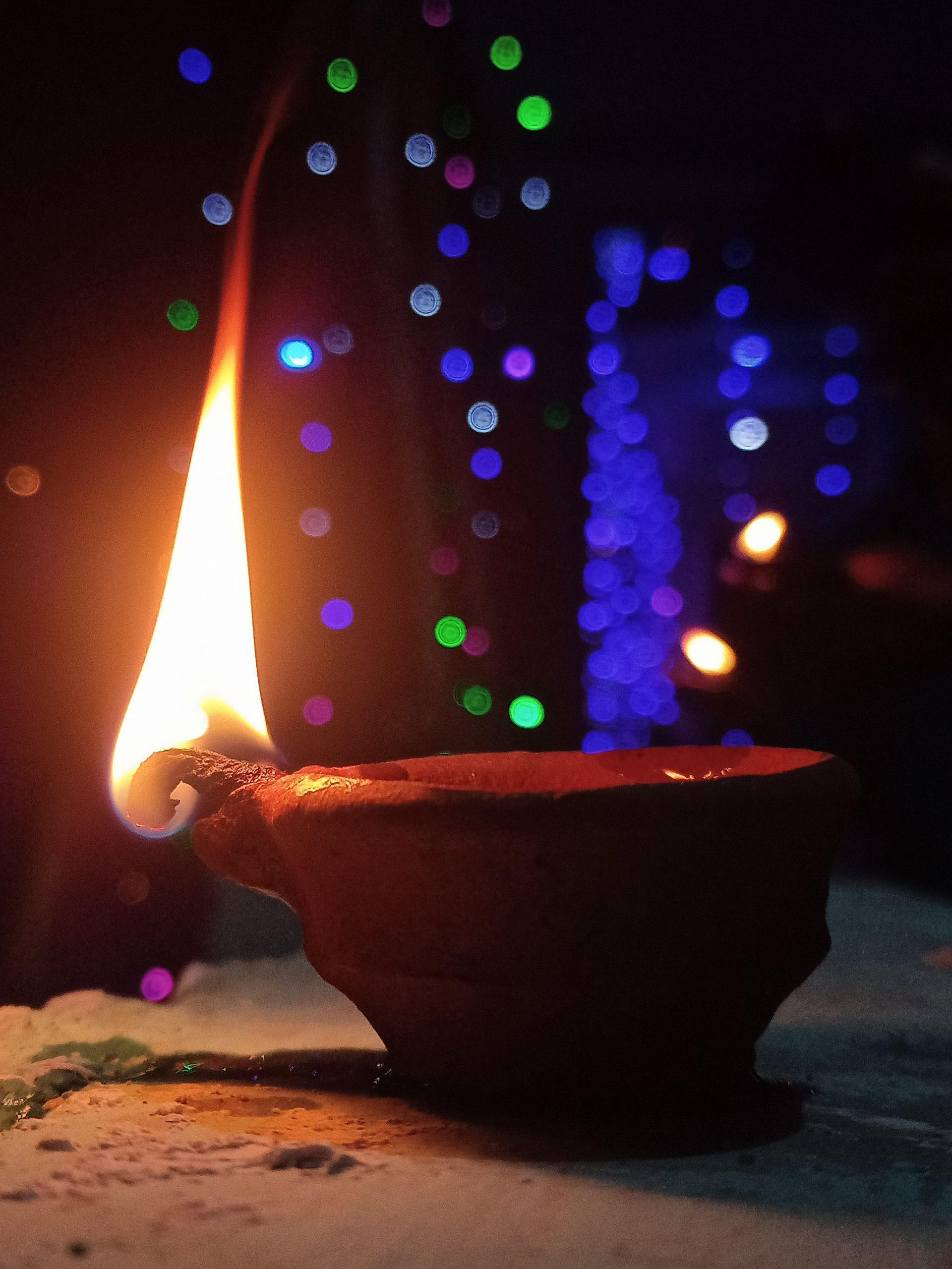 earthen lamp