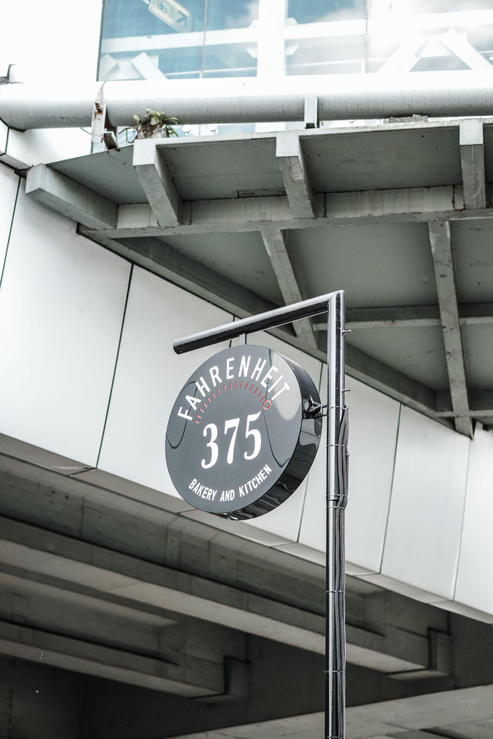 A restaurant signage board