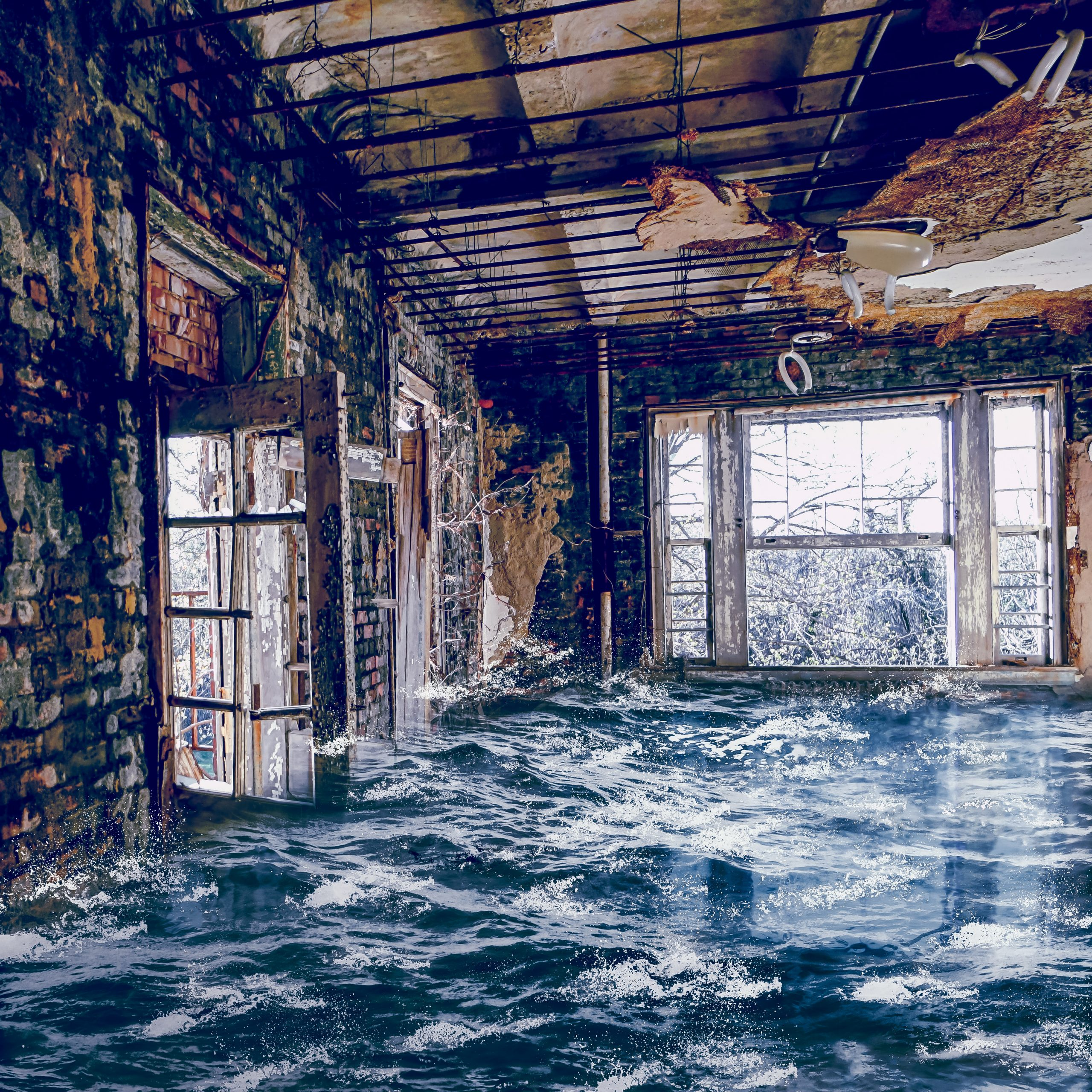 Flood in an old house