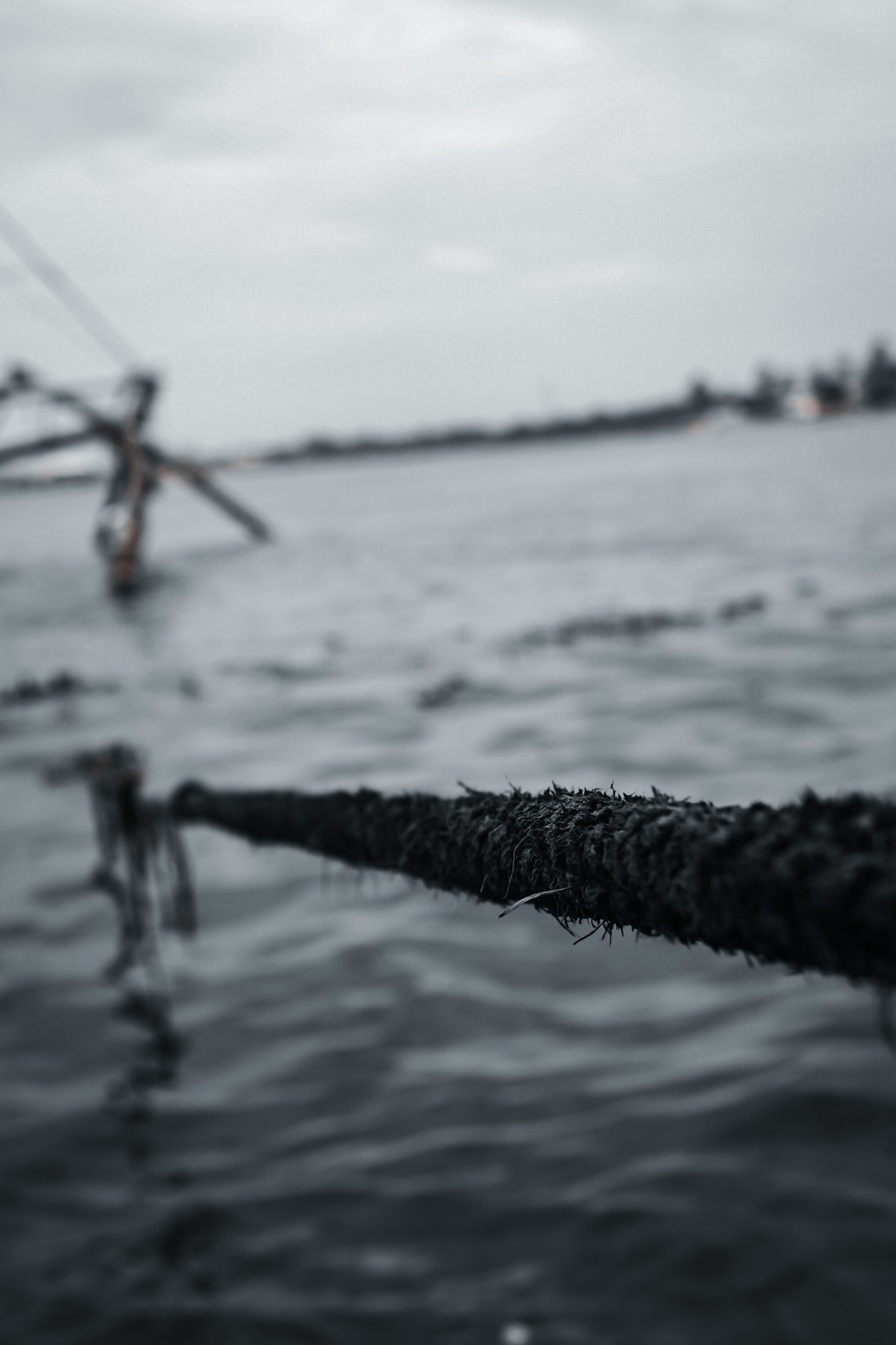 A rope and water