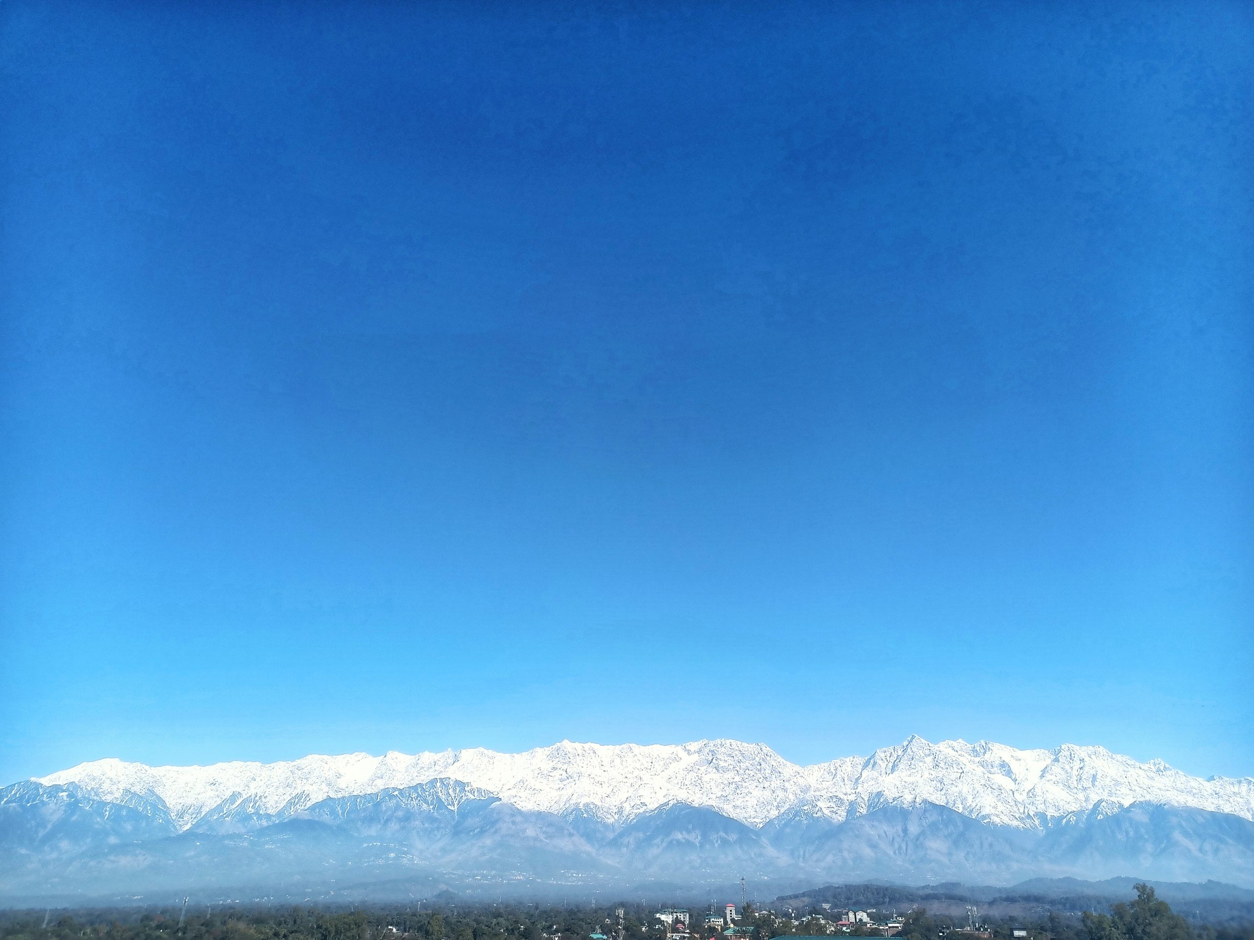 Sky and snowy mountains