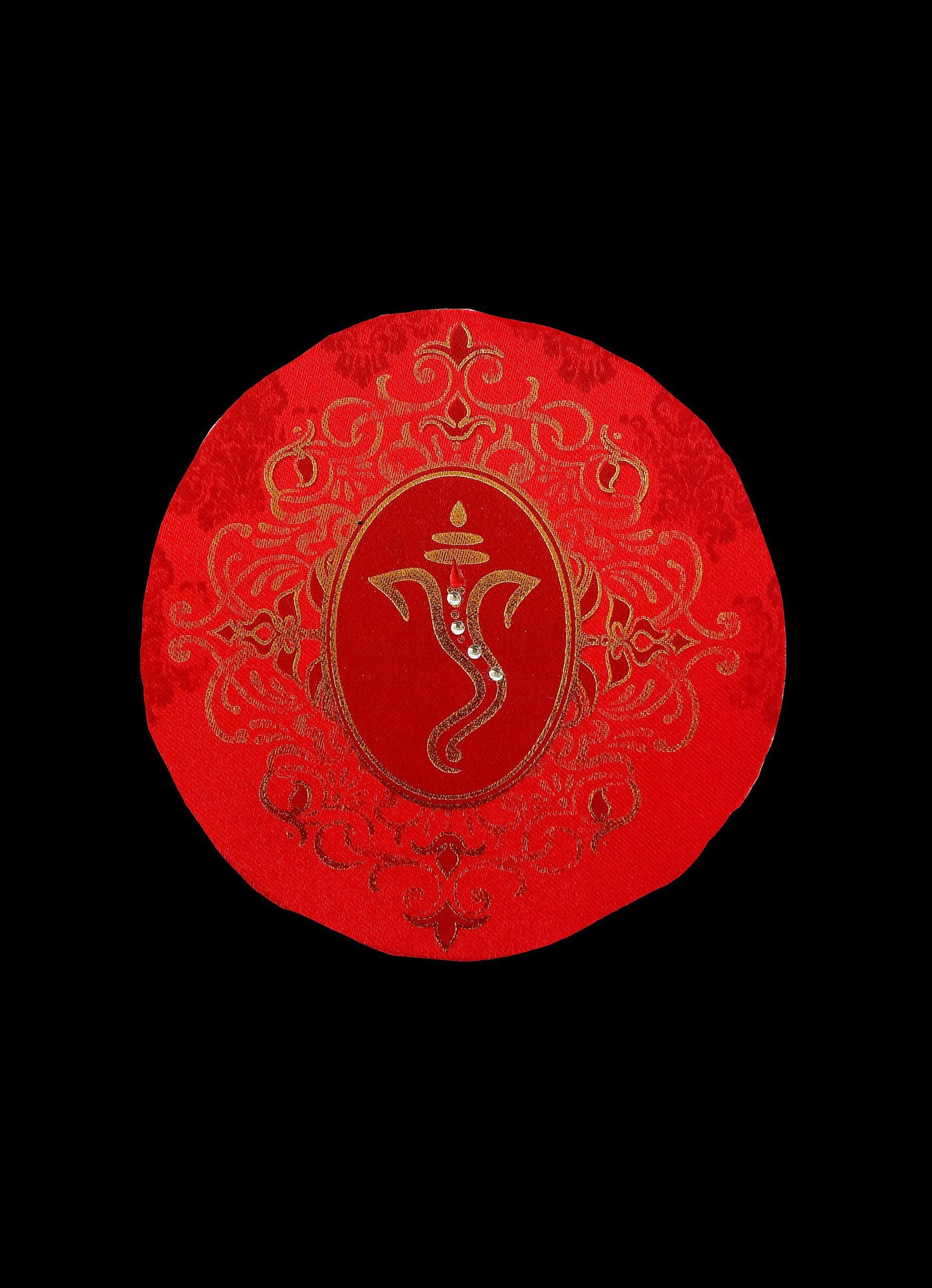 Ganesha on a red cloth