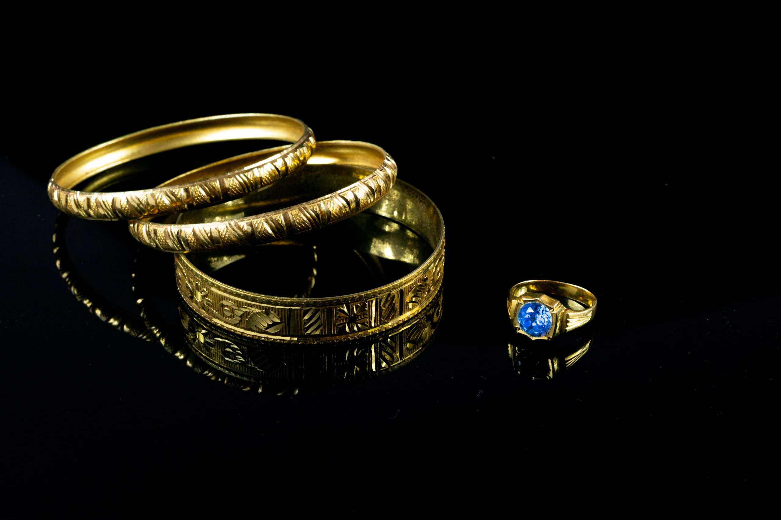Golden bangles and ring