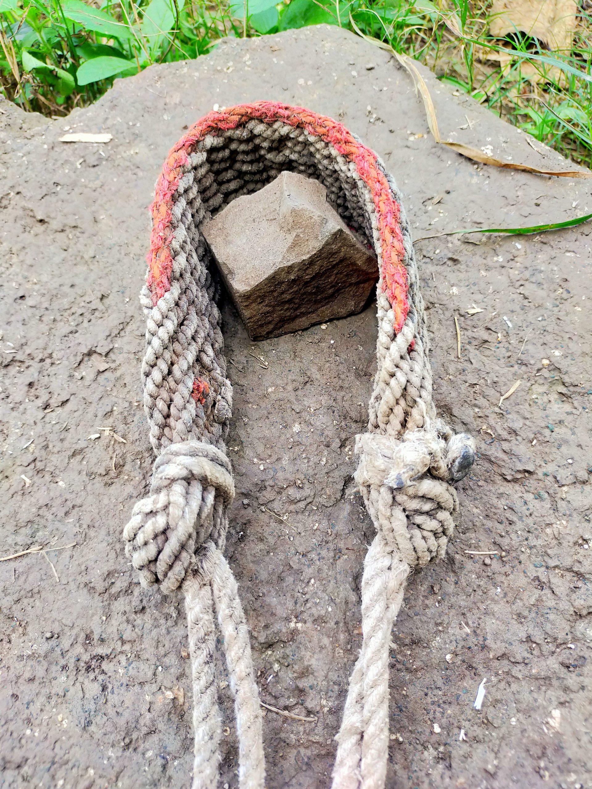 A slingshot rope
