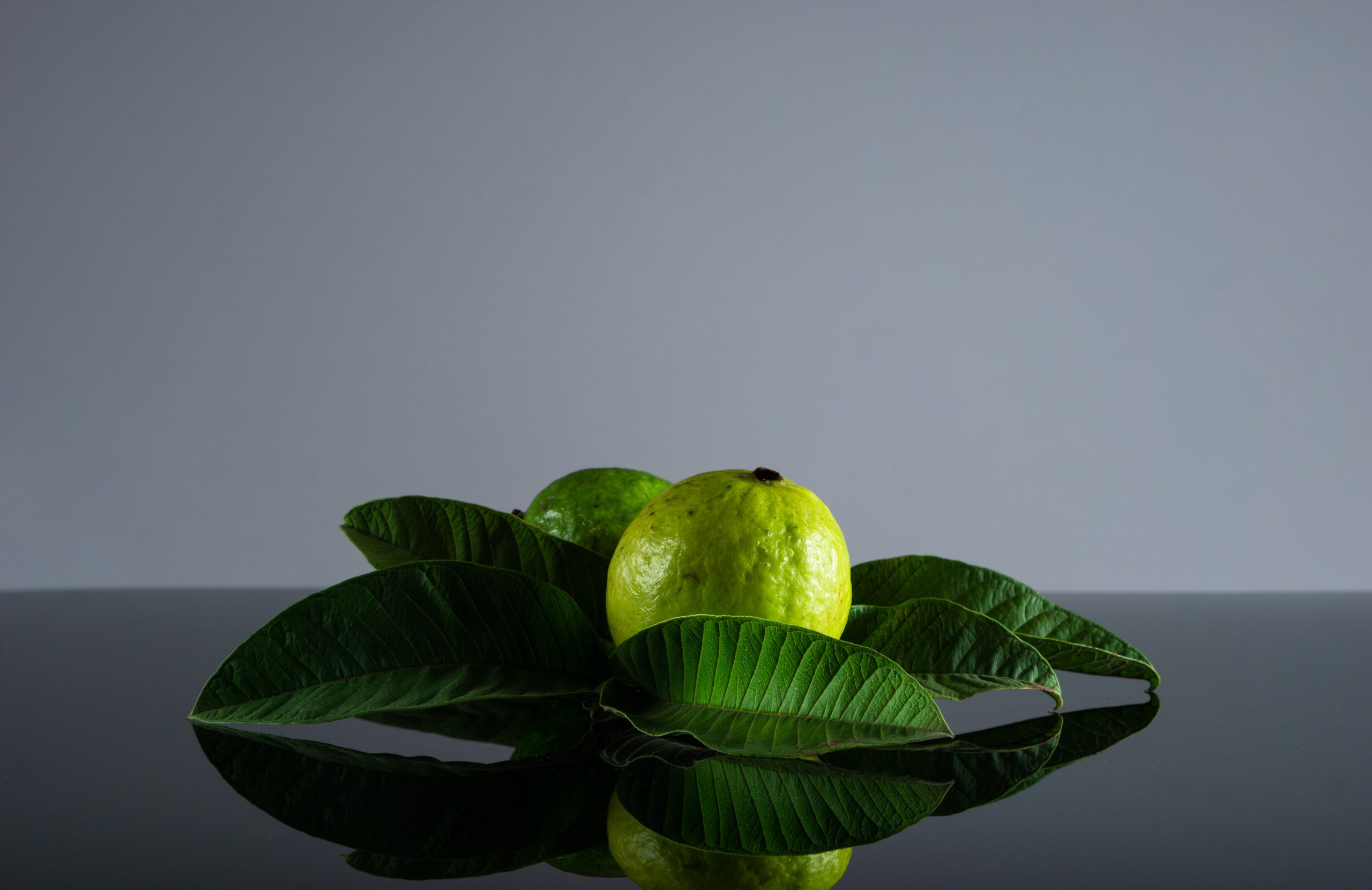 guava fruit and leaves