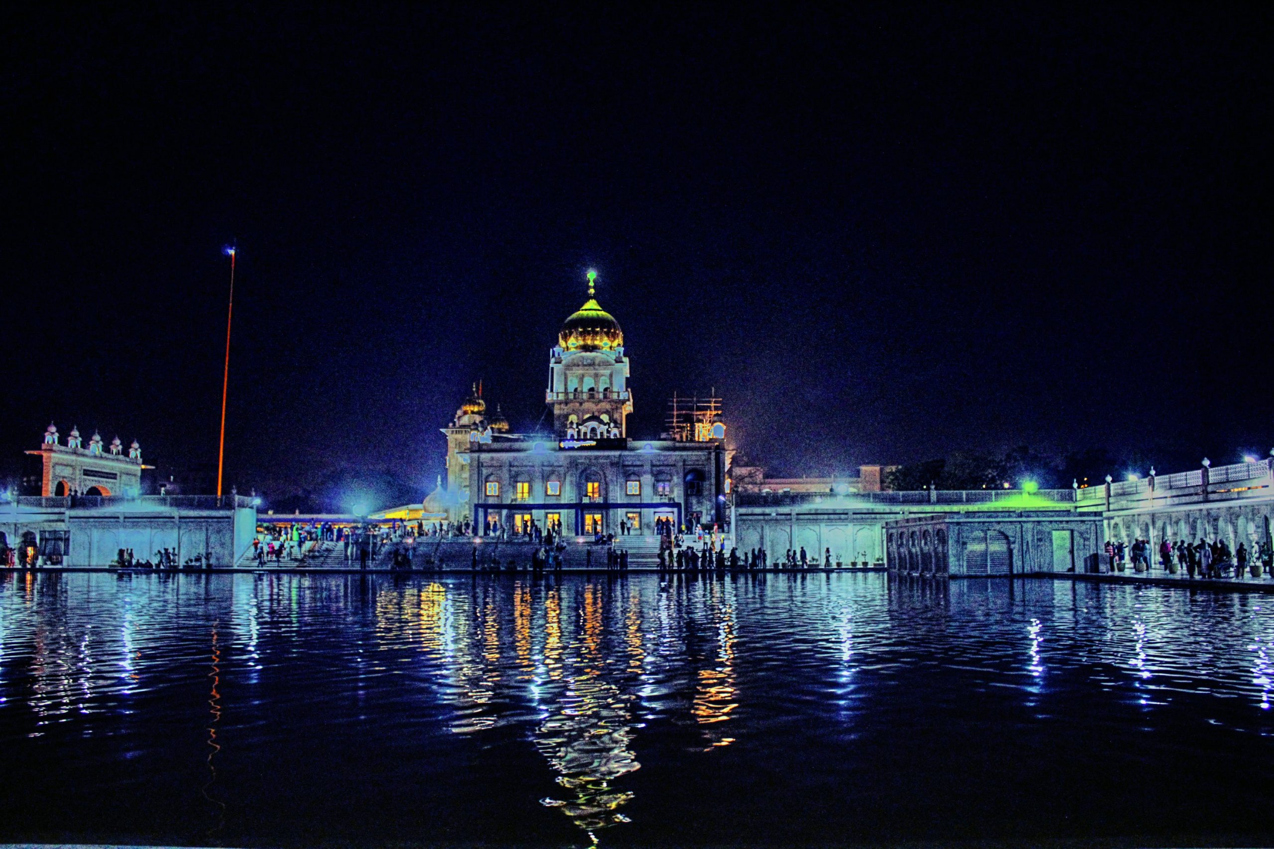 gurudwara and pond