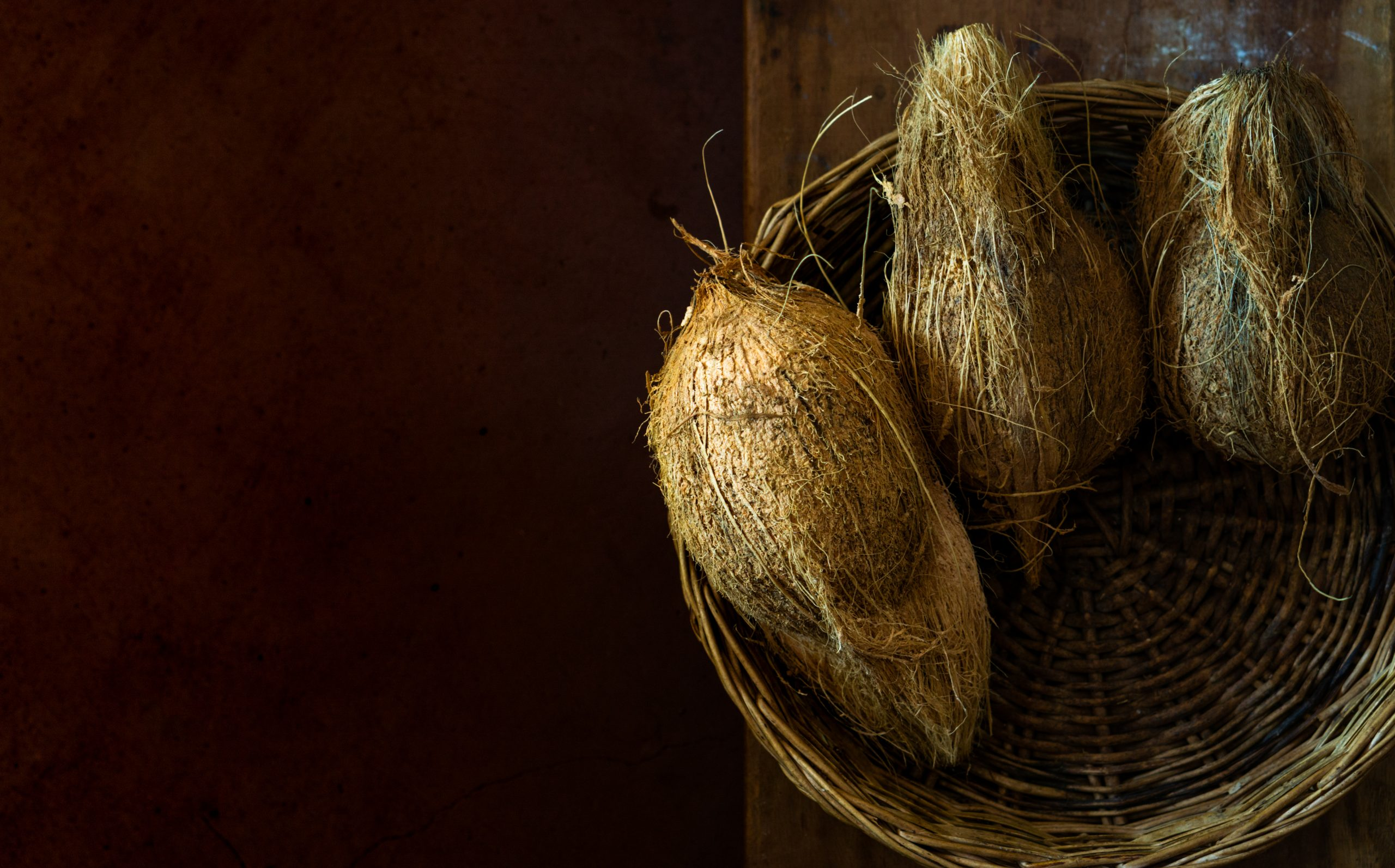 coconuts in a basket