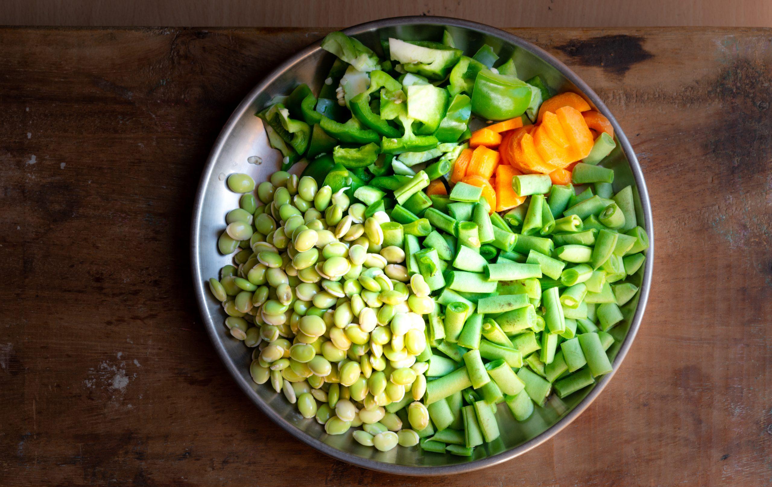 Vegetable in plate
