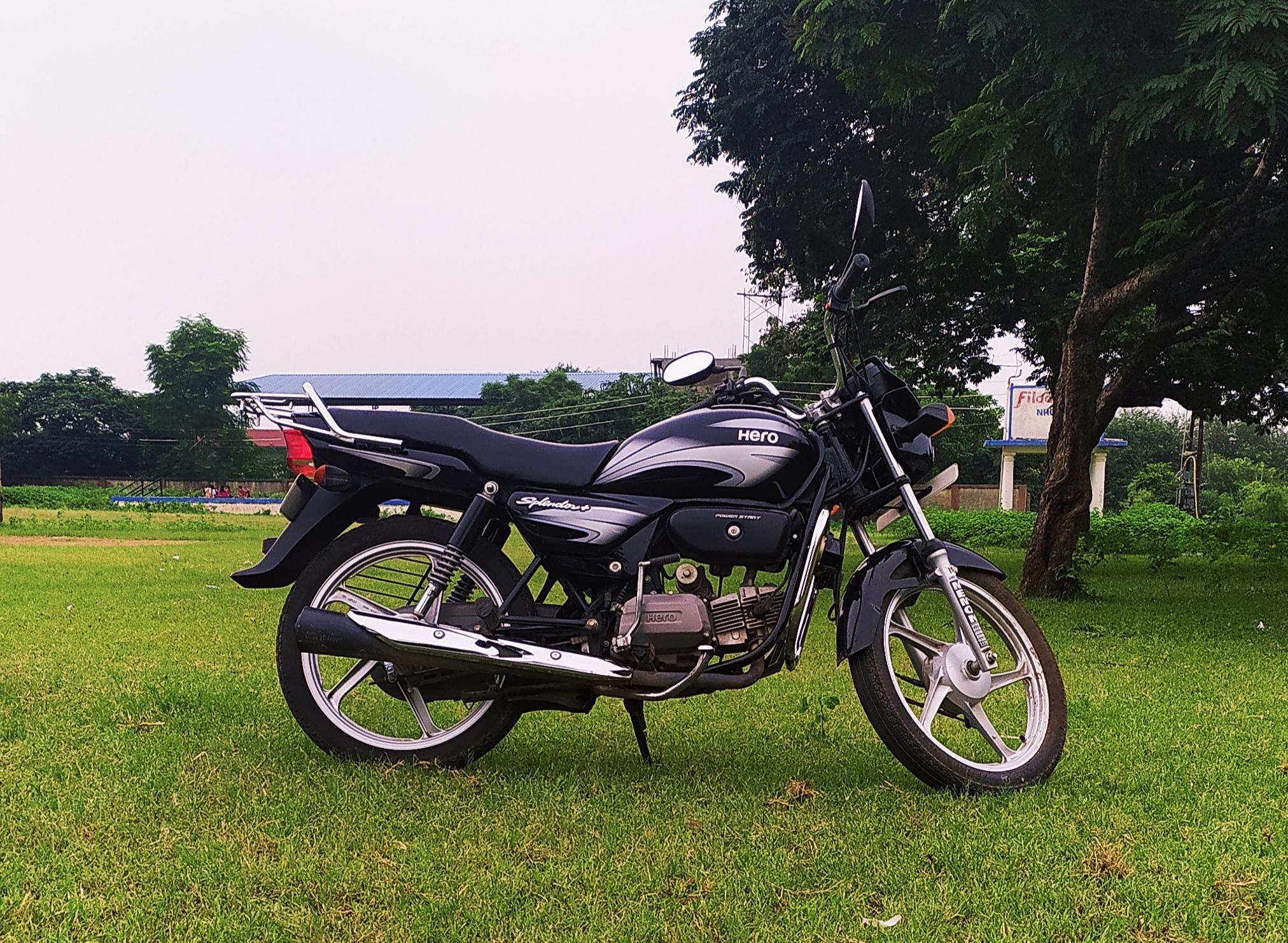 bike on grass