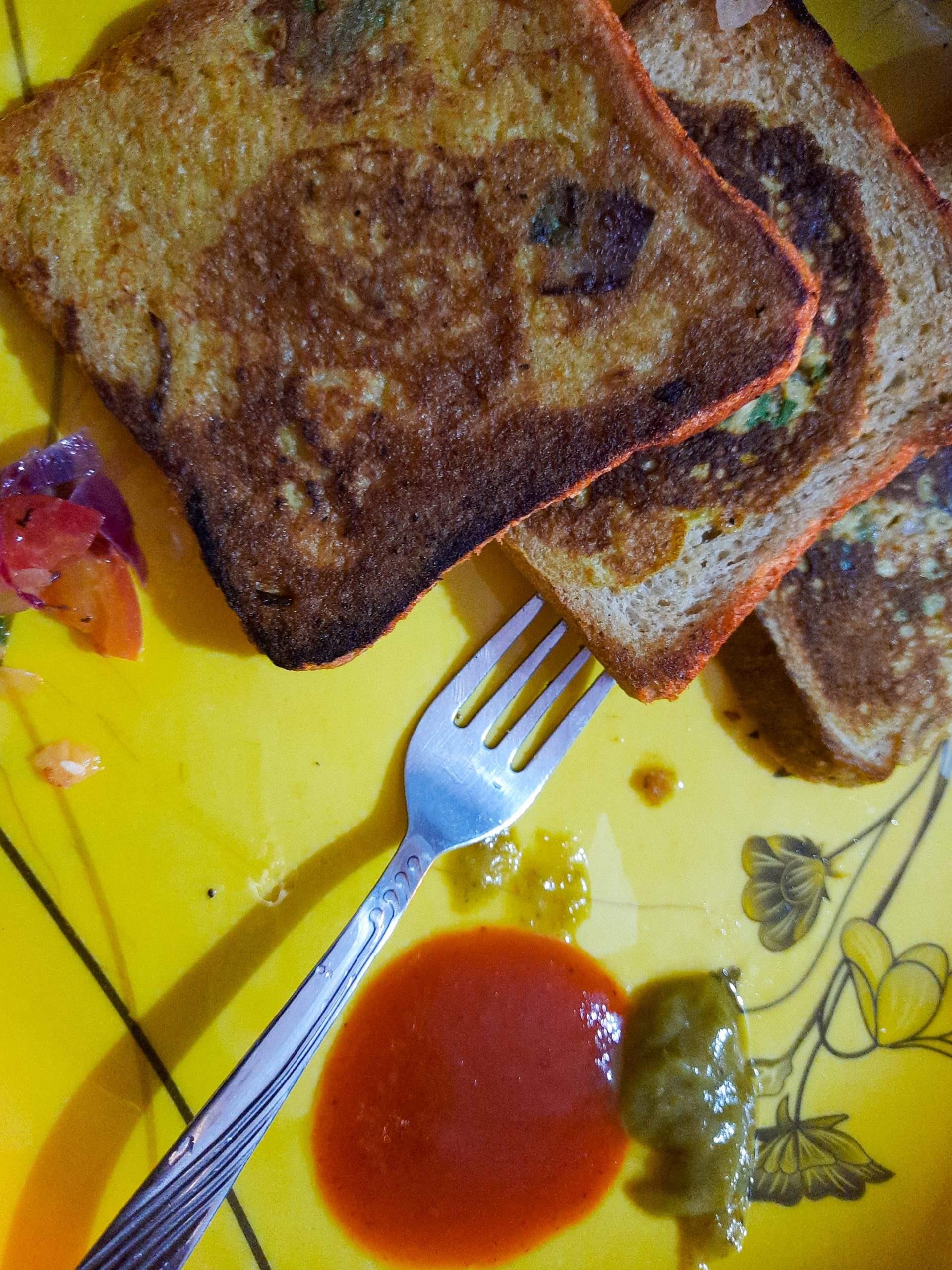 Homemade bread toast
