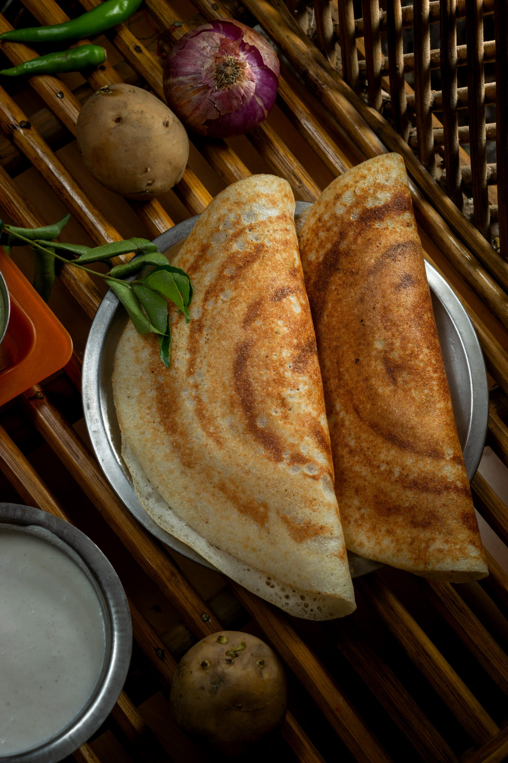 dosa on a plate