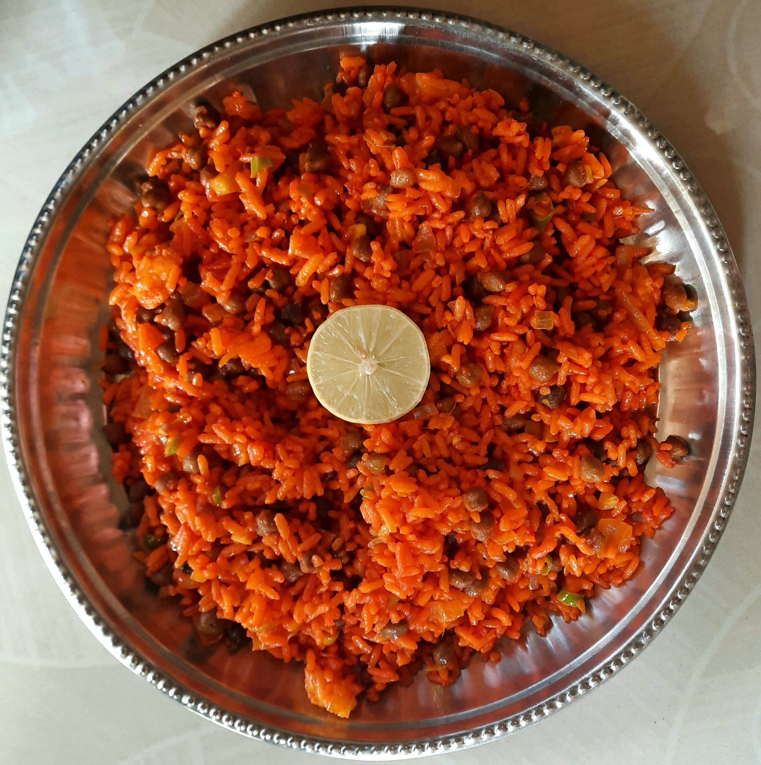 Homemade spicy rice