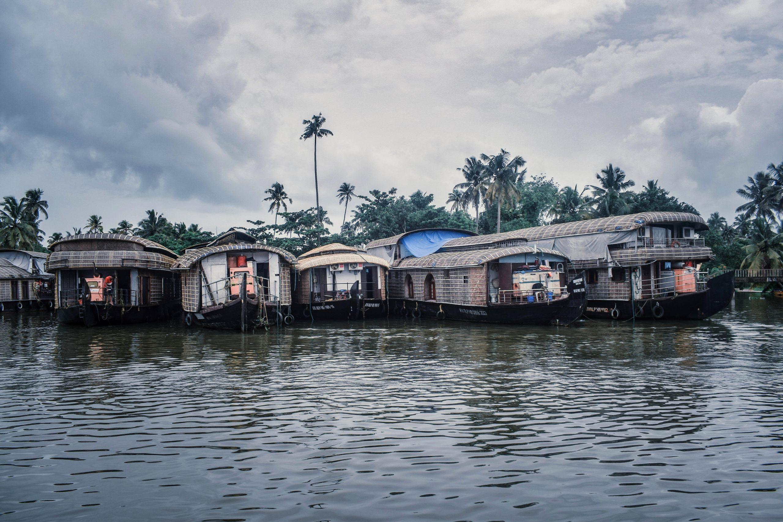 Houseboats in Alleppey, Kerala