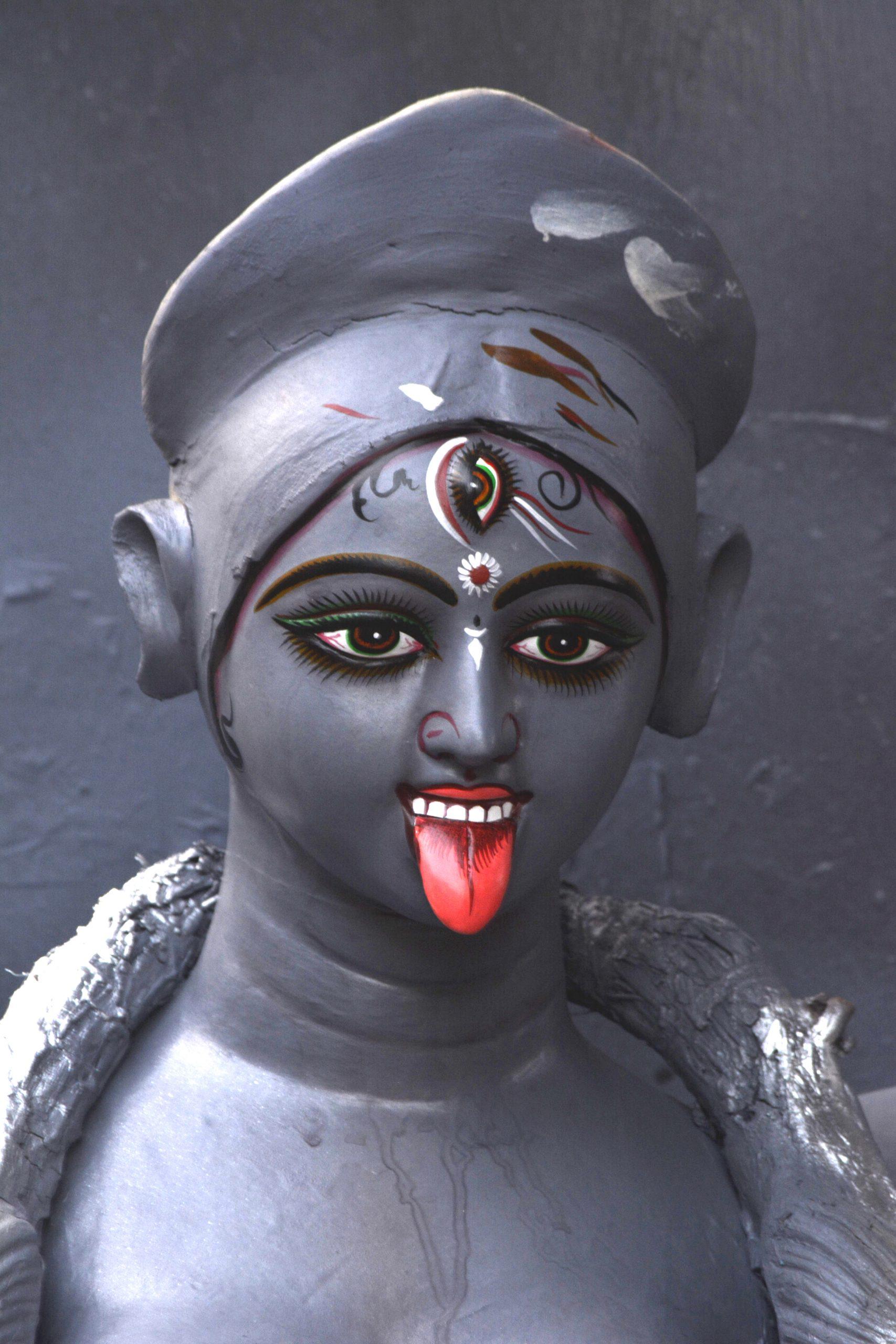 An idol of goddess Kali