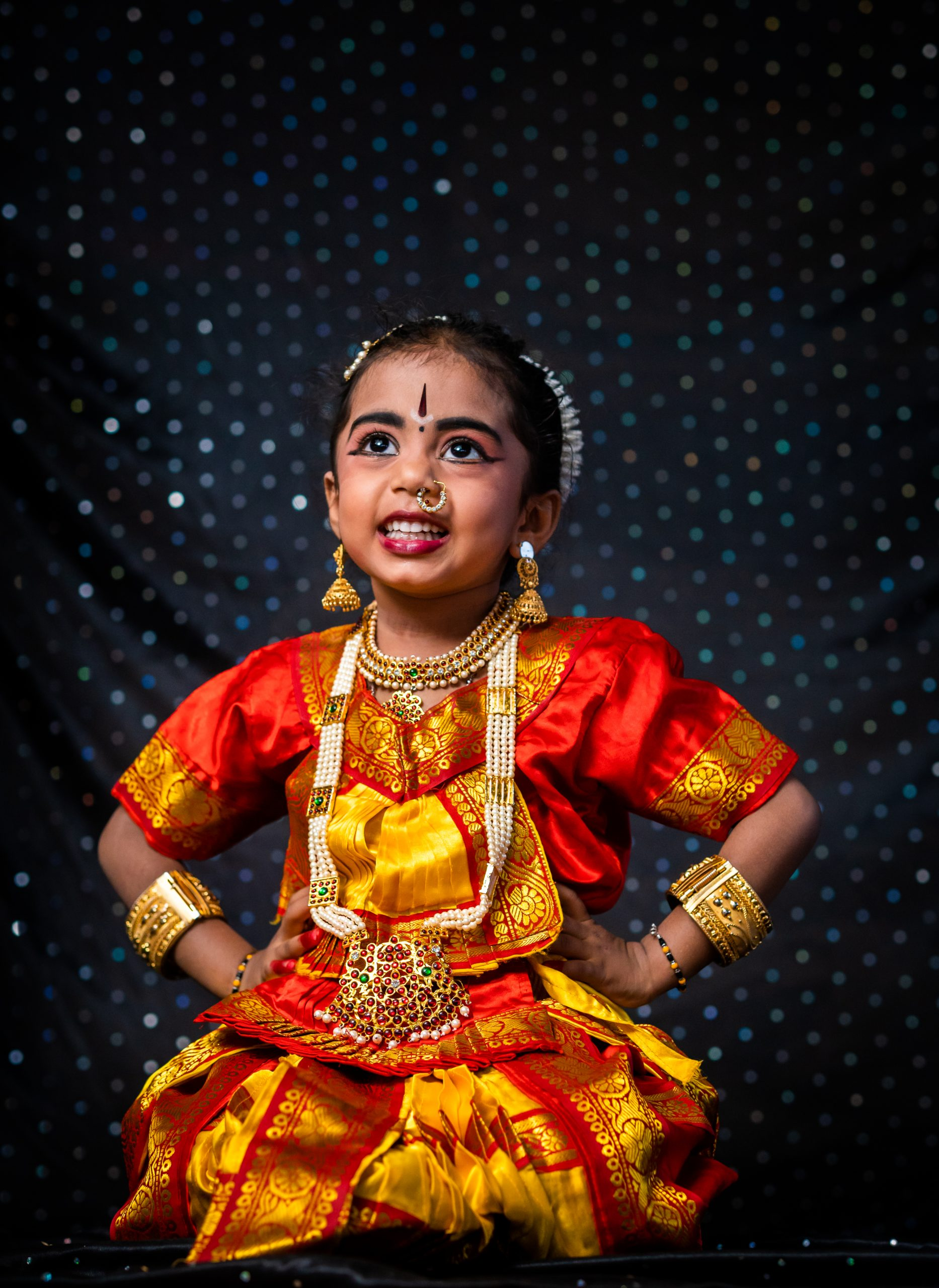 Kid in traditional dress