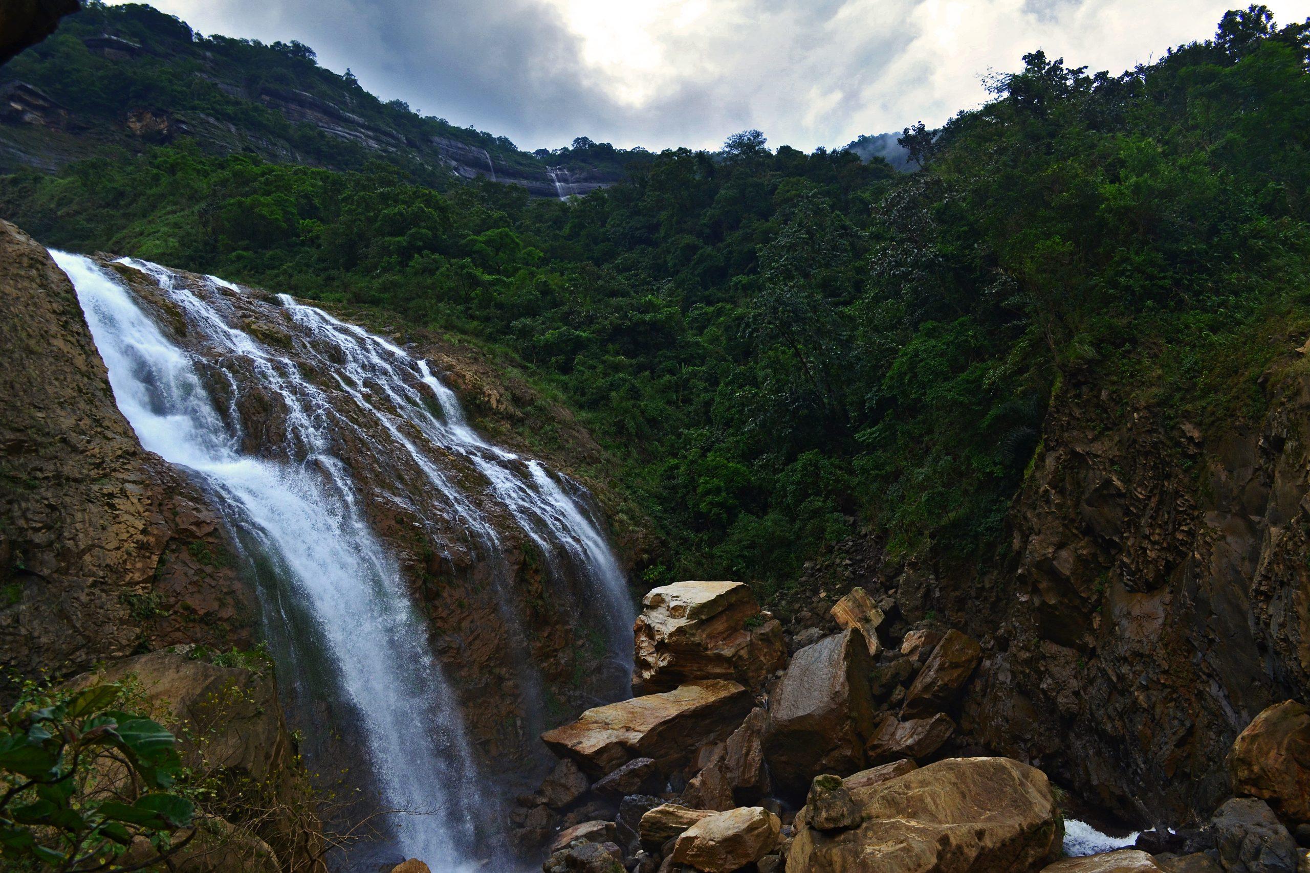 Kynrem falls in Meghalaya