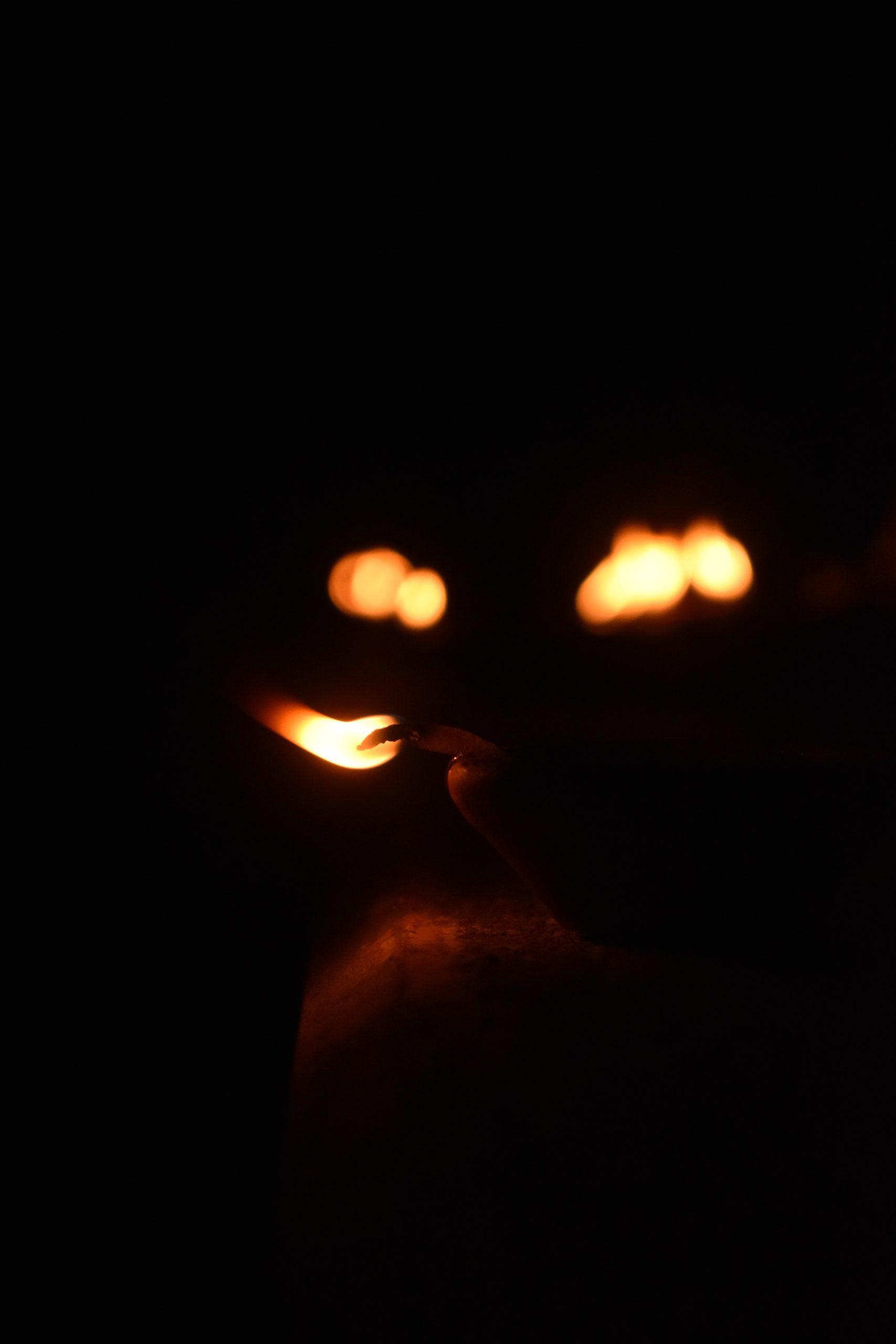 Oil lamp flame