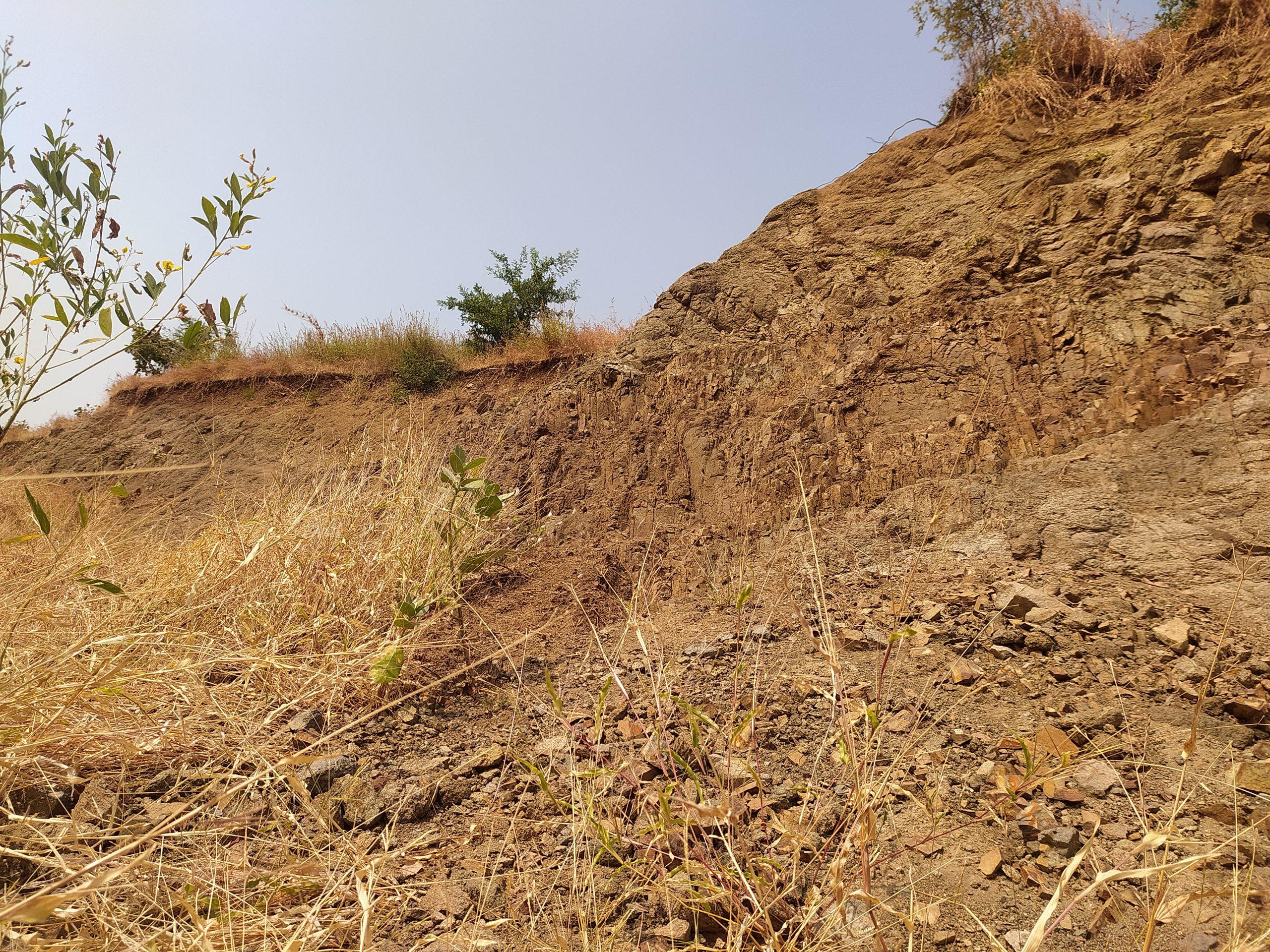 Landslide on a hill