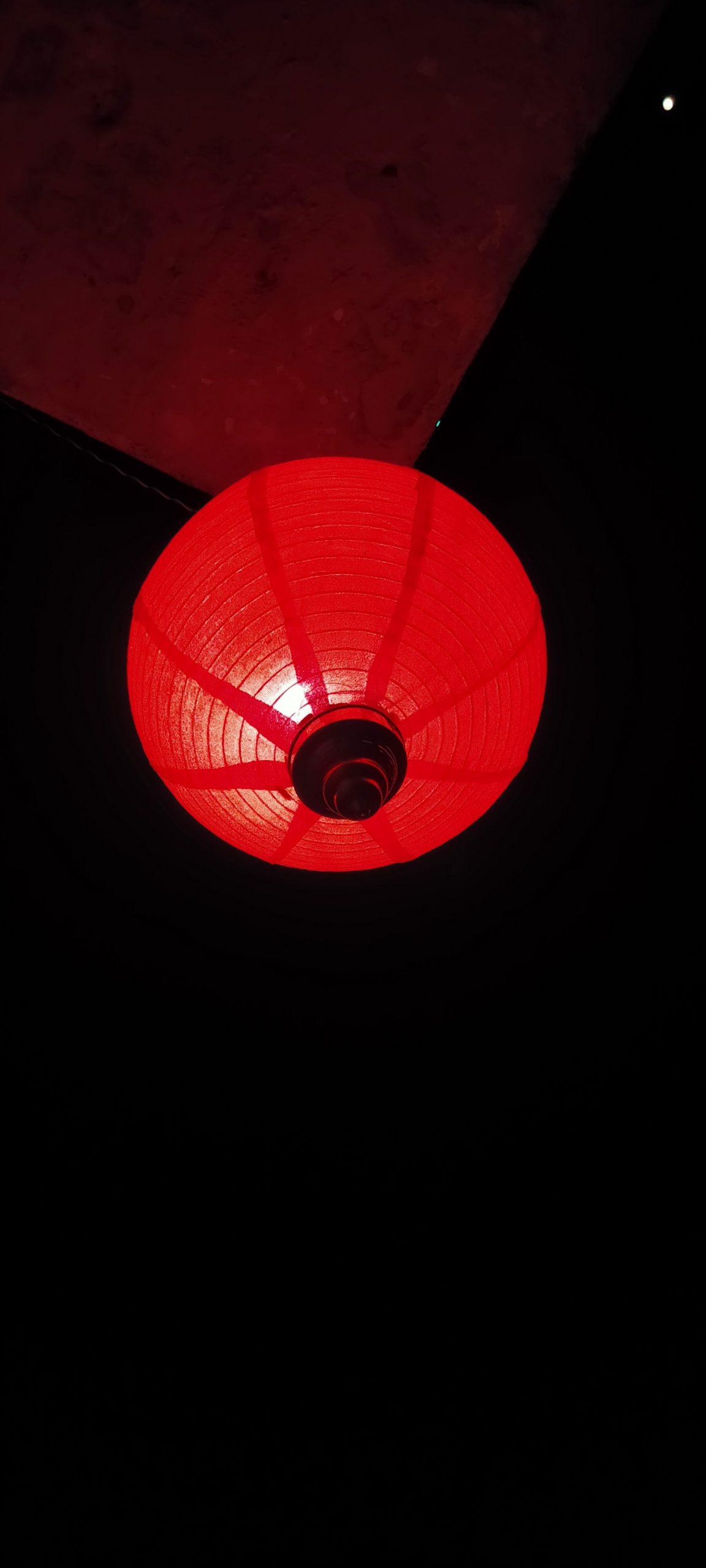 A red light bulb