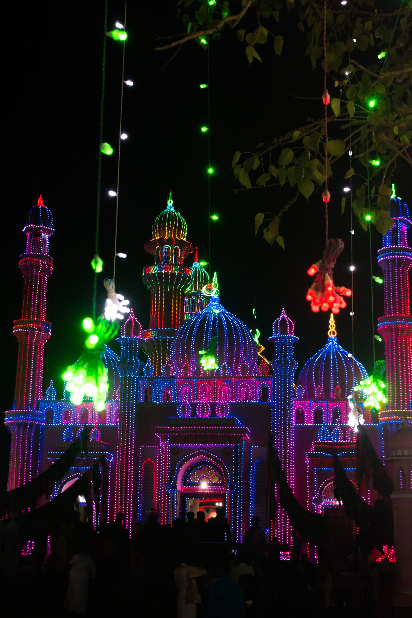 Lighting and decoration of Mosque