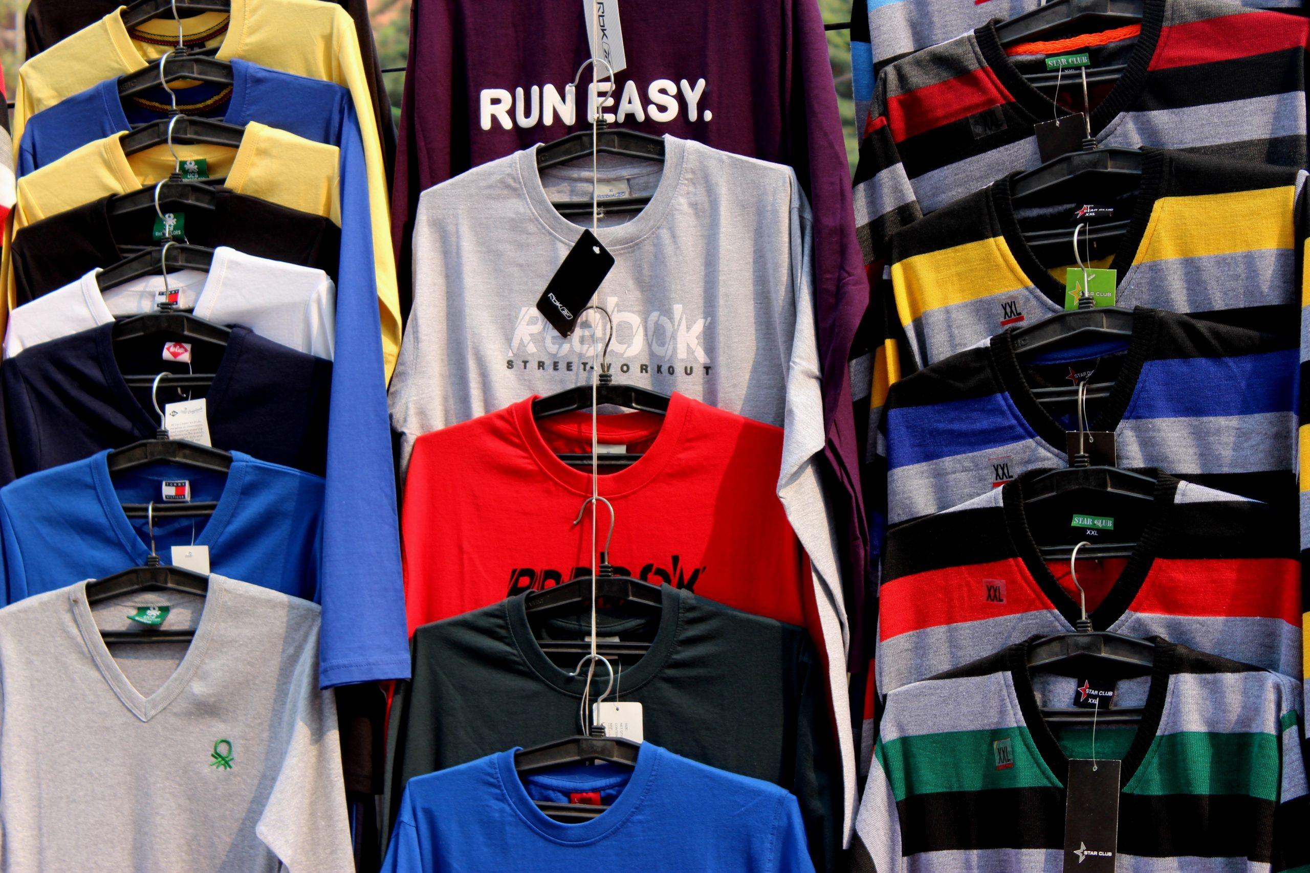 Men's clothes in a shop