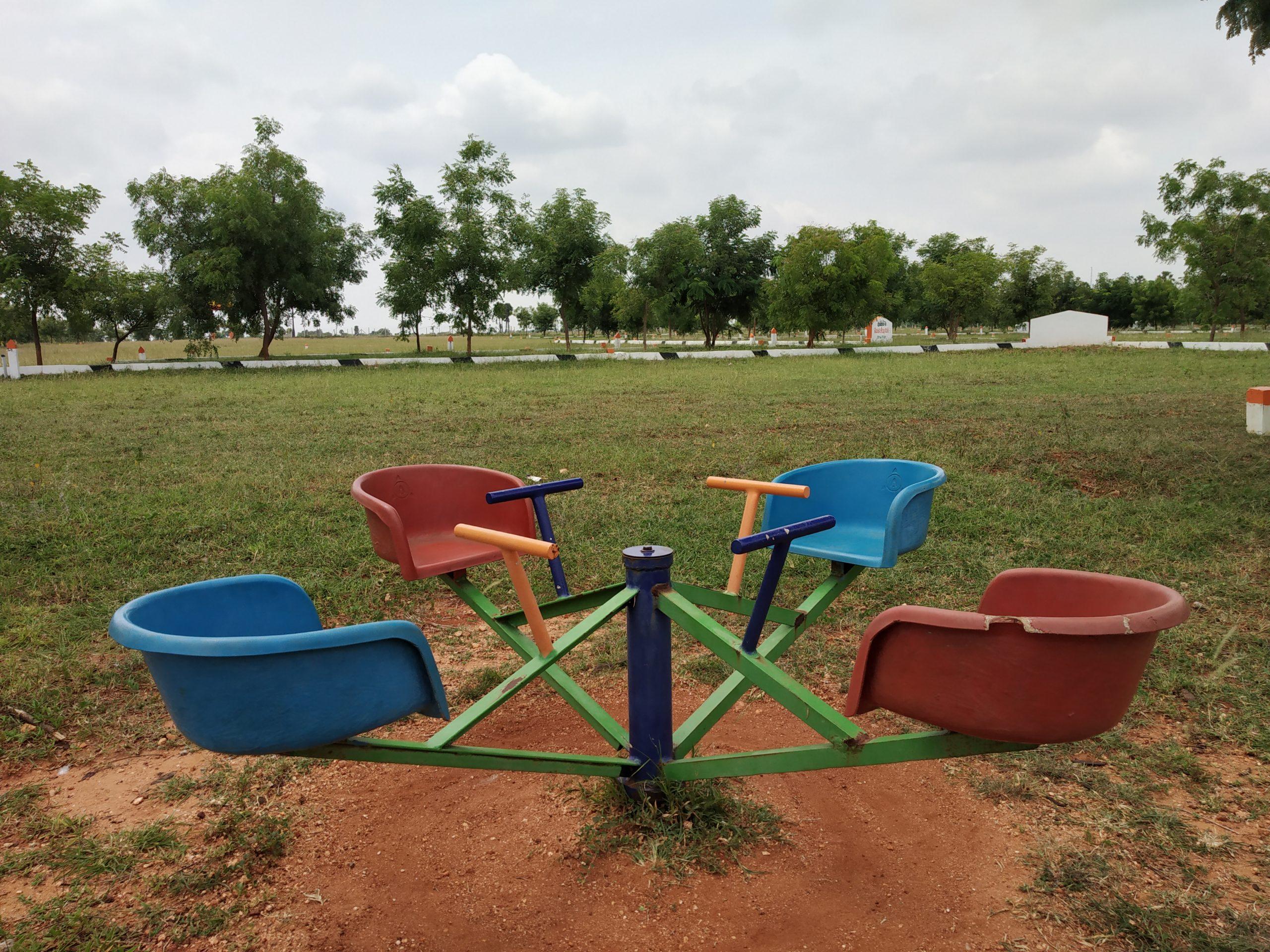 merry go round in a playground