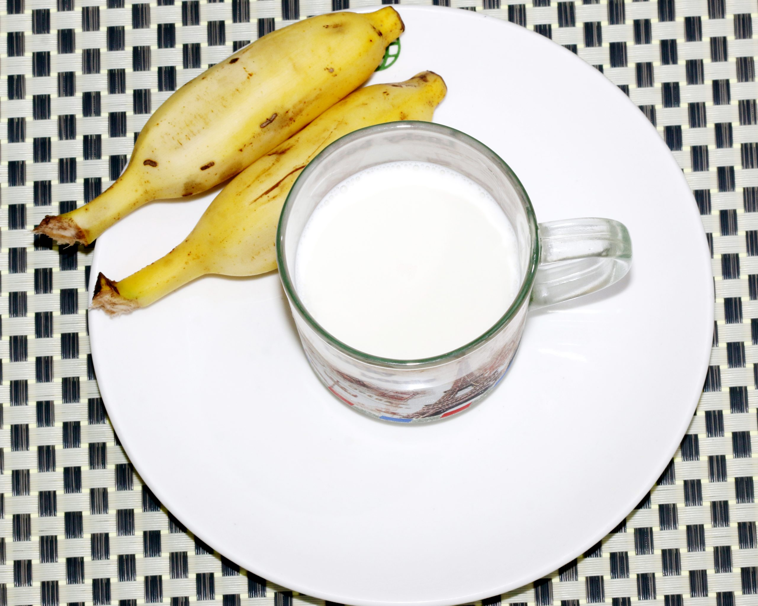 milk and bananas