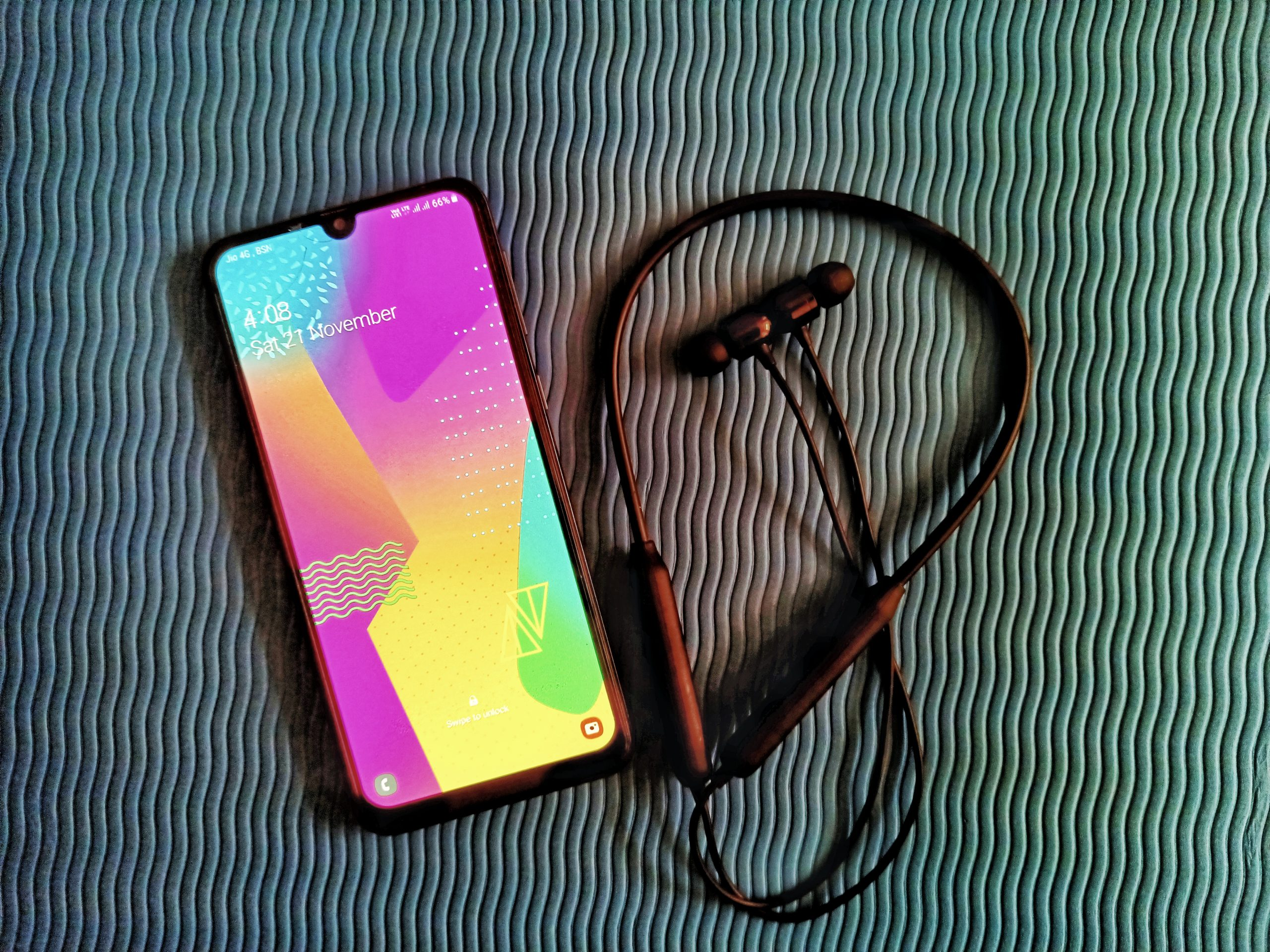 mobile and earphones