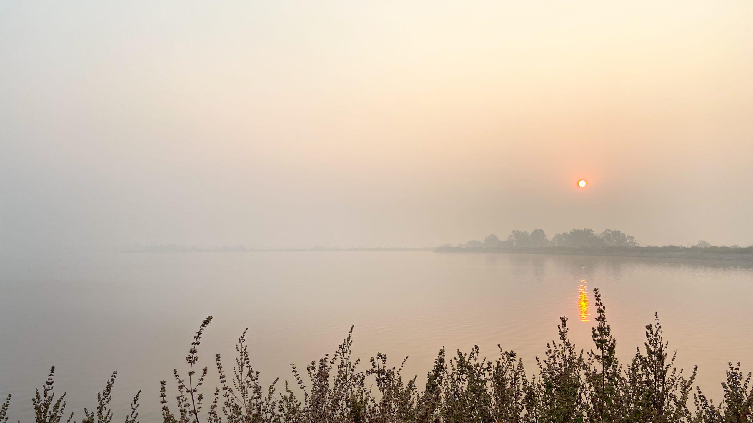 Morning lake view