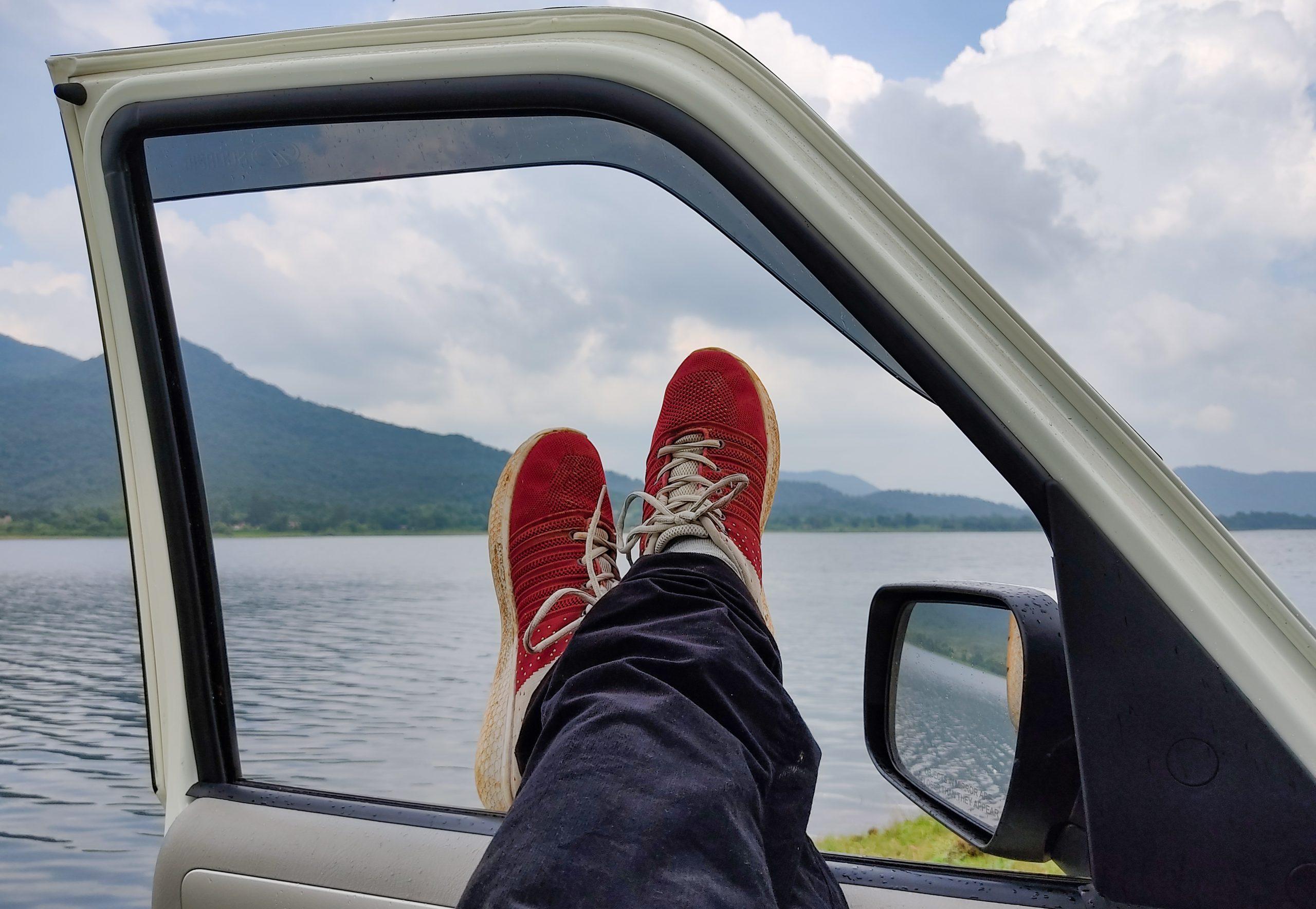 Relaxing near a river