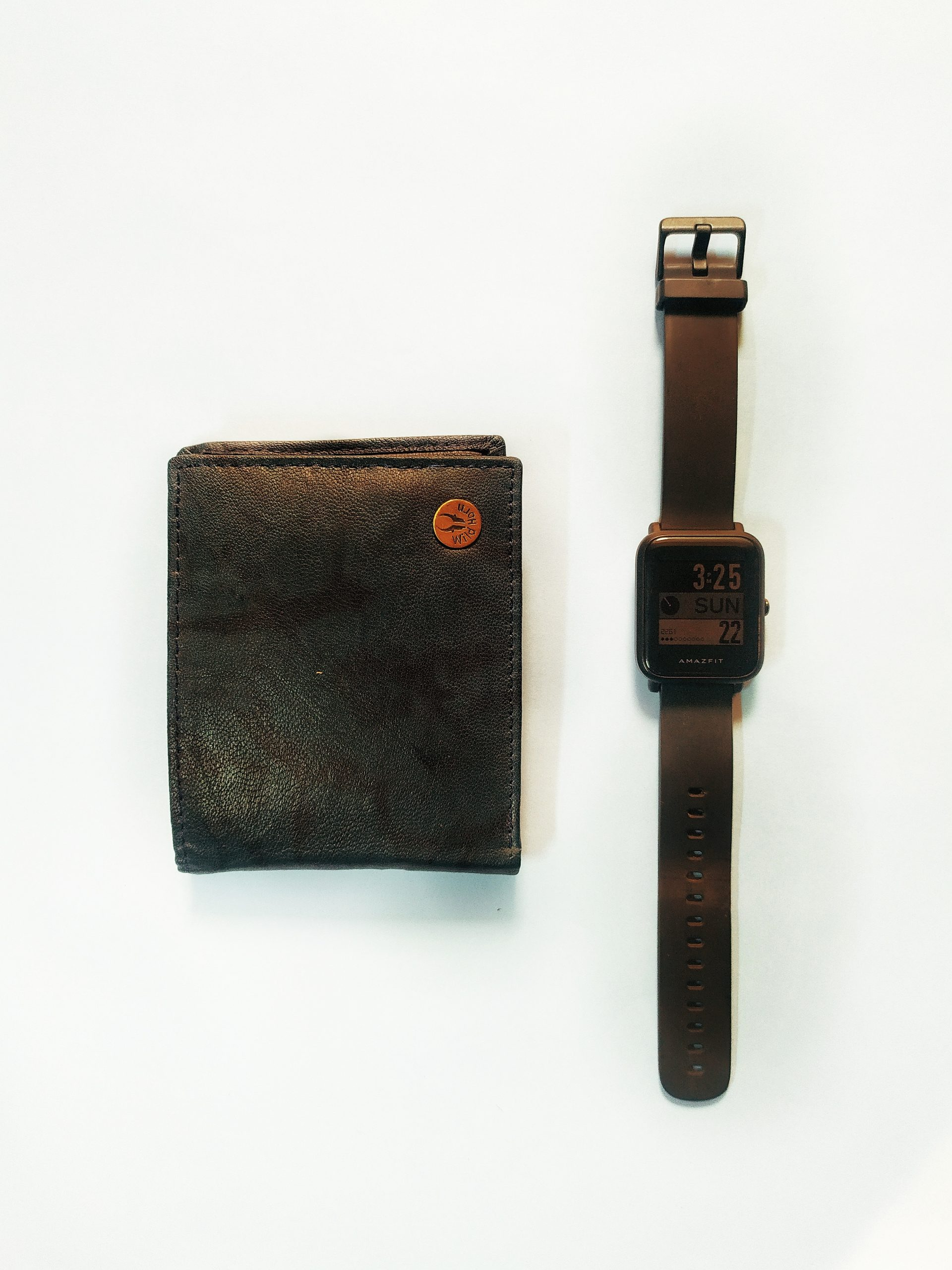 A wallet and watch