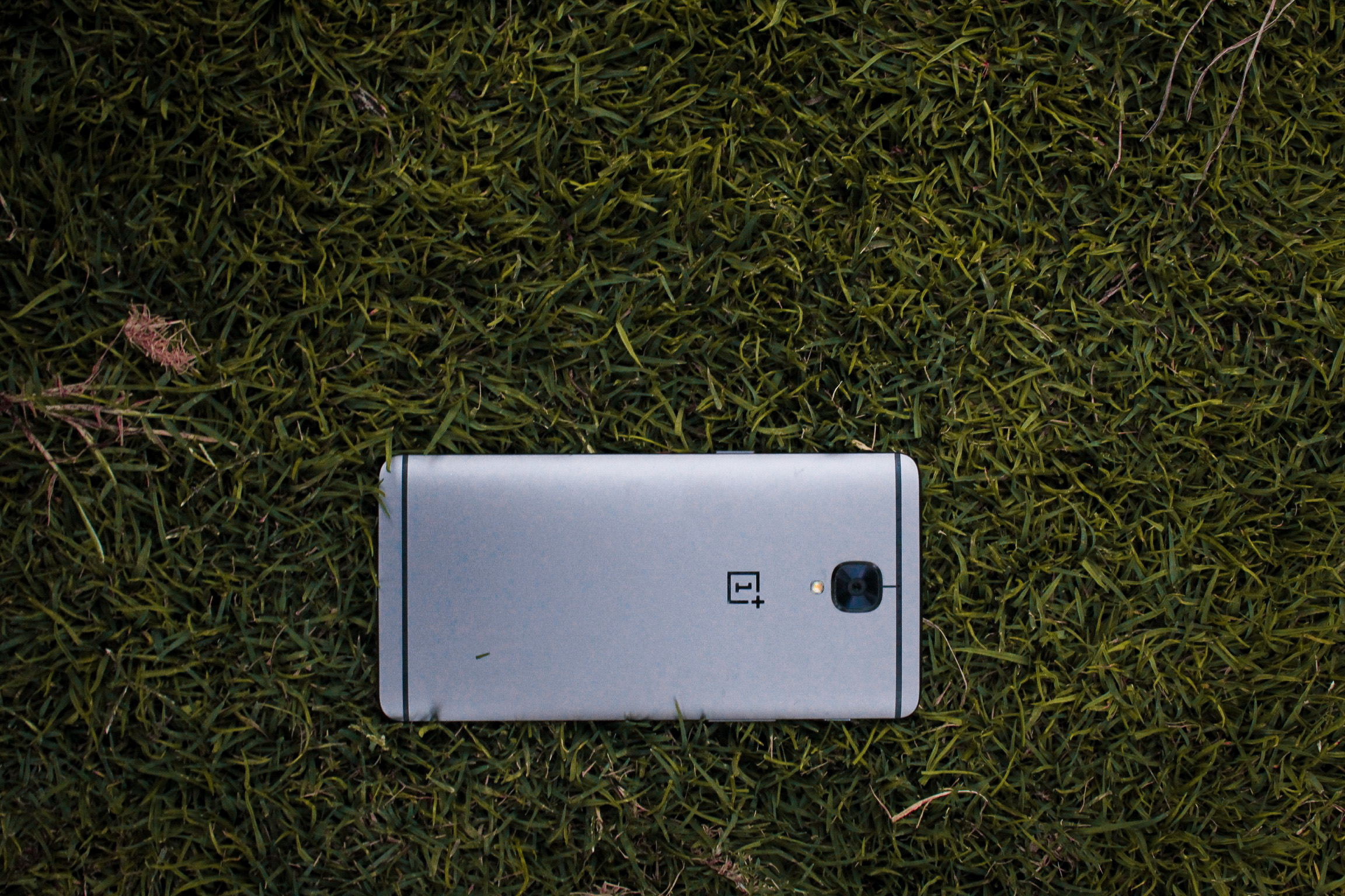 mobile in grass