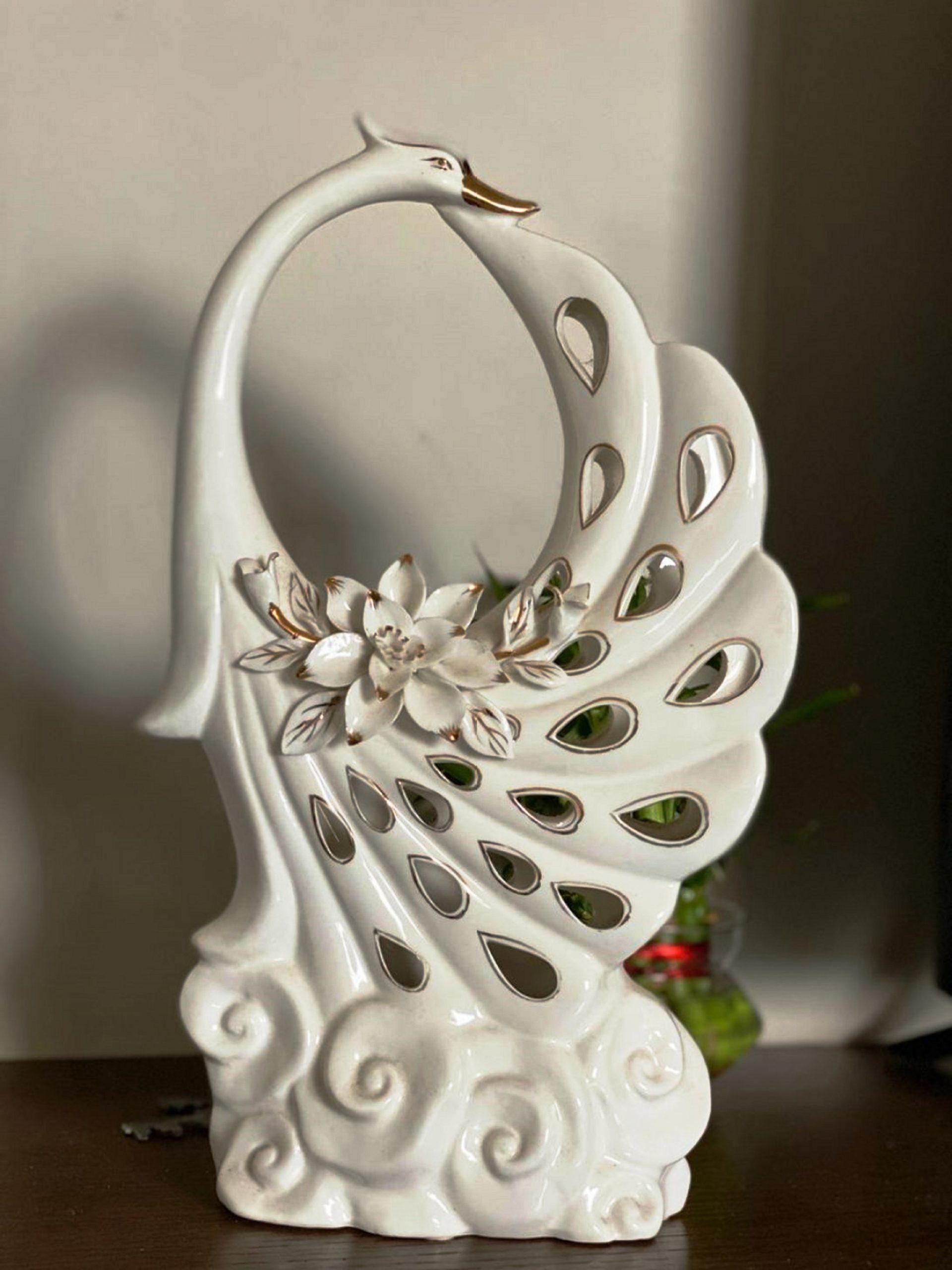 peacock shaped vase