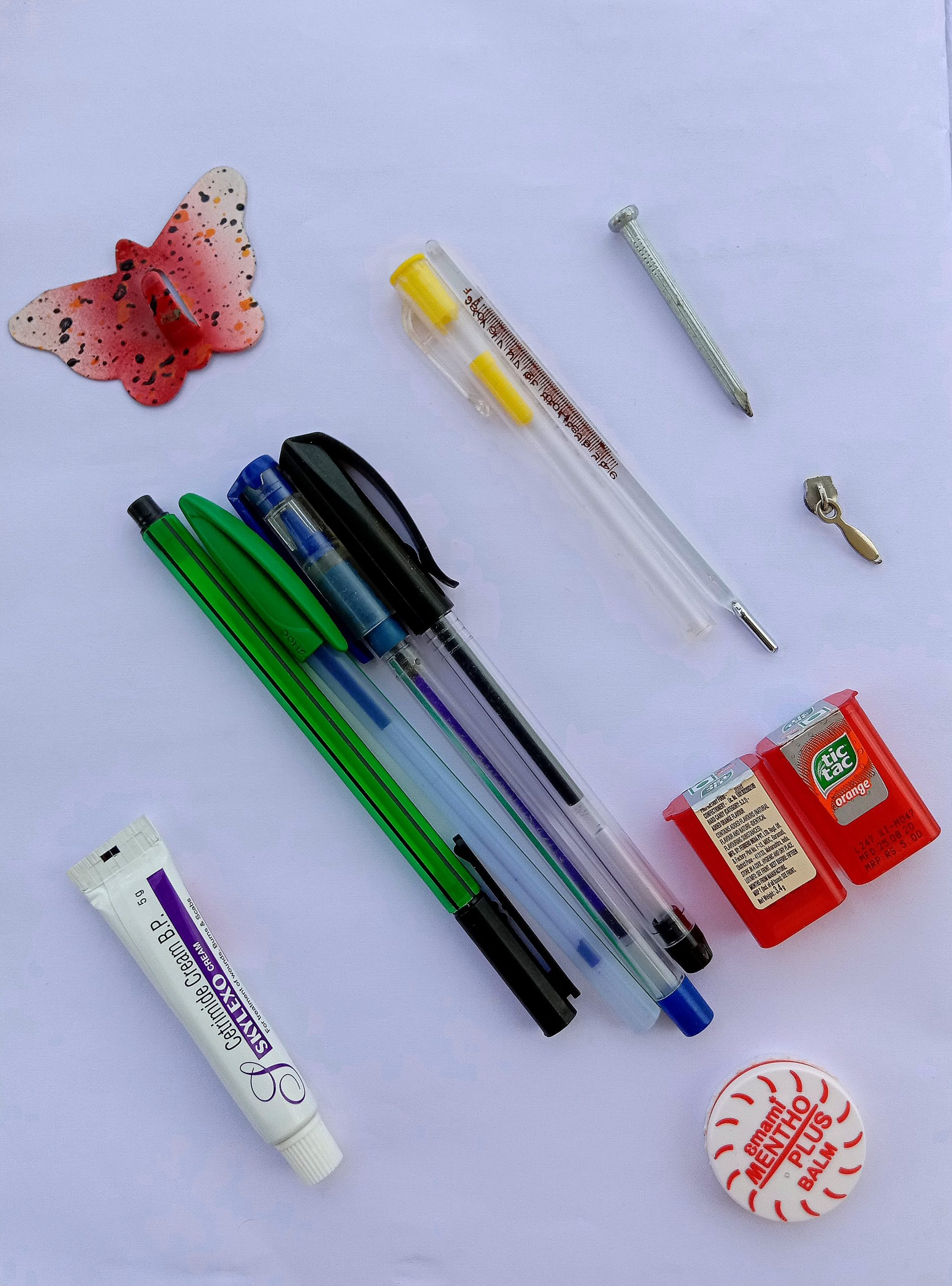 Pens and other items