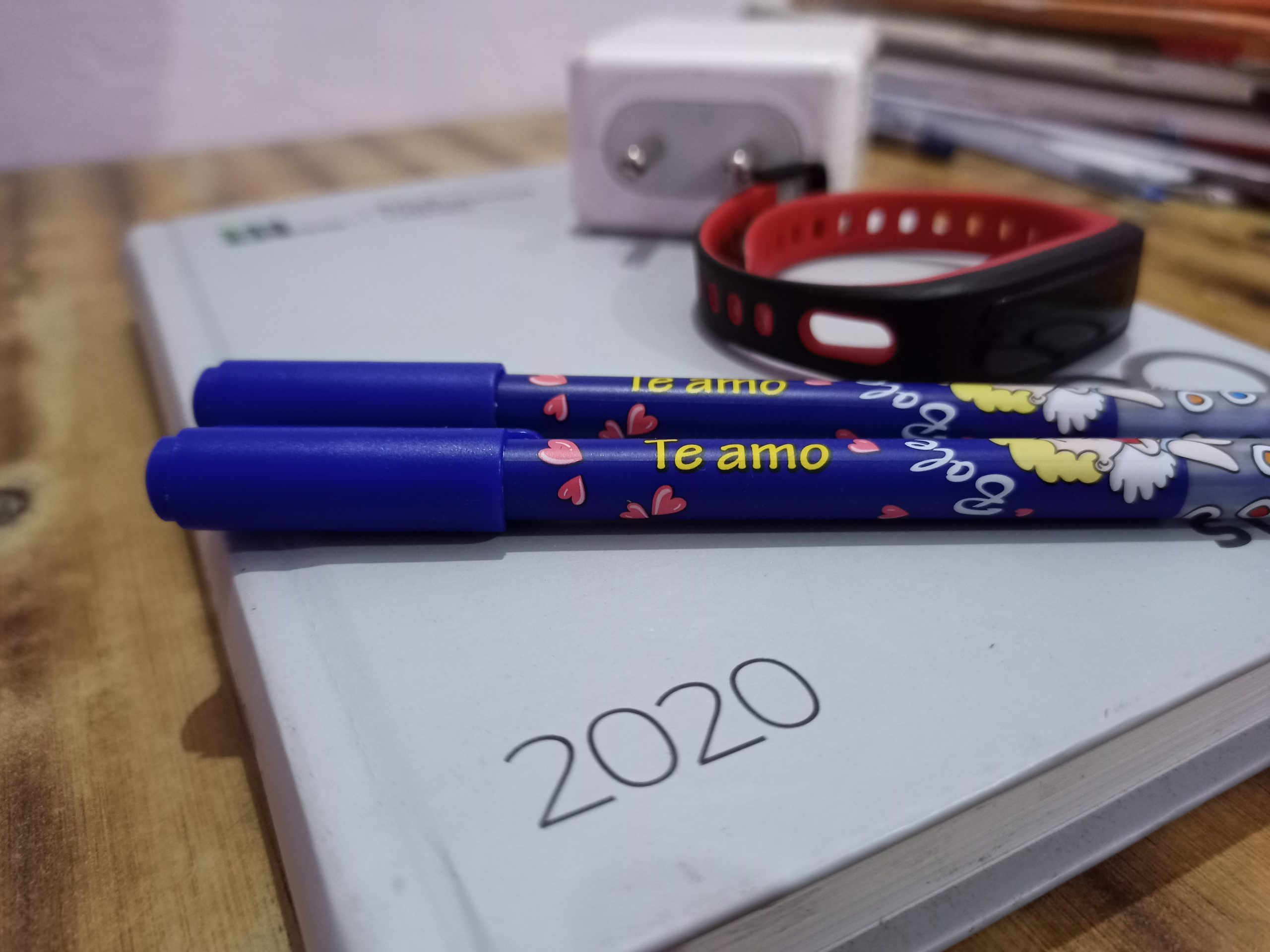 Pens and diary